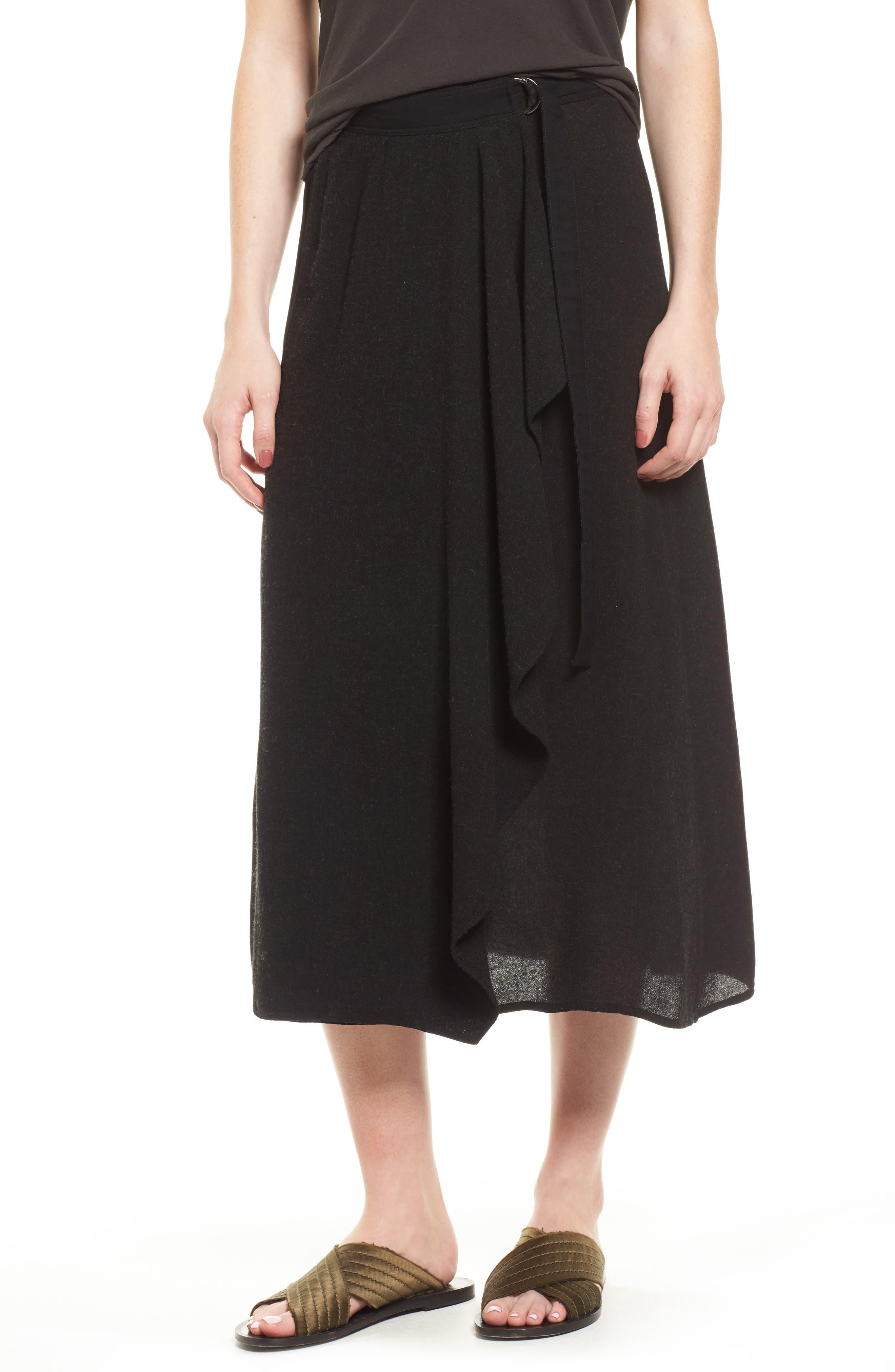 Midi Skirt,                         Main,                         color, Black