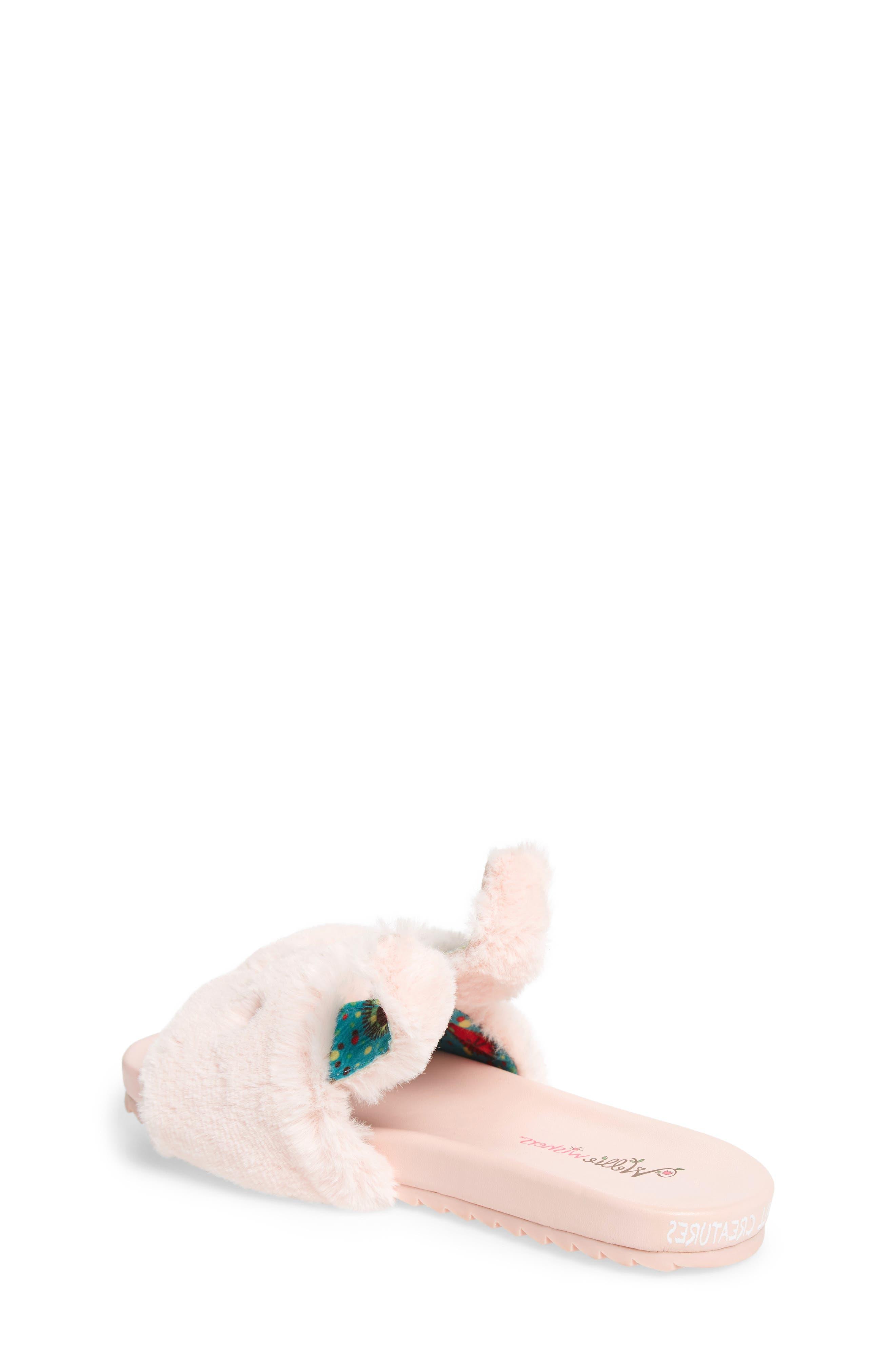 Willa Carrot Faux Fur Slide Sandal,                             Alternate thumbnail 2, color,                             Pink