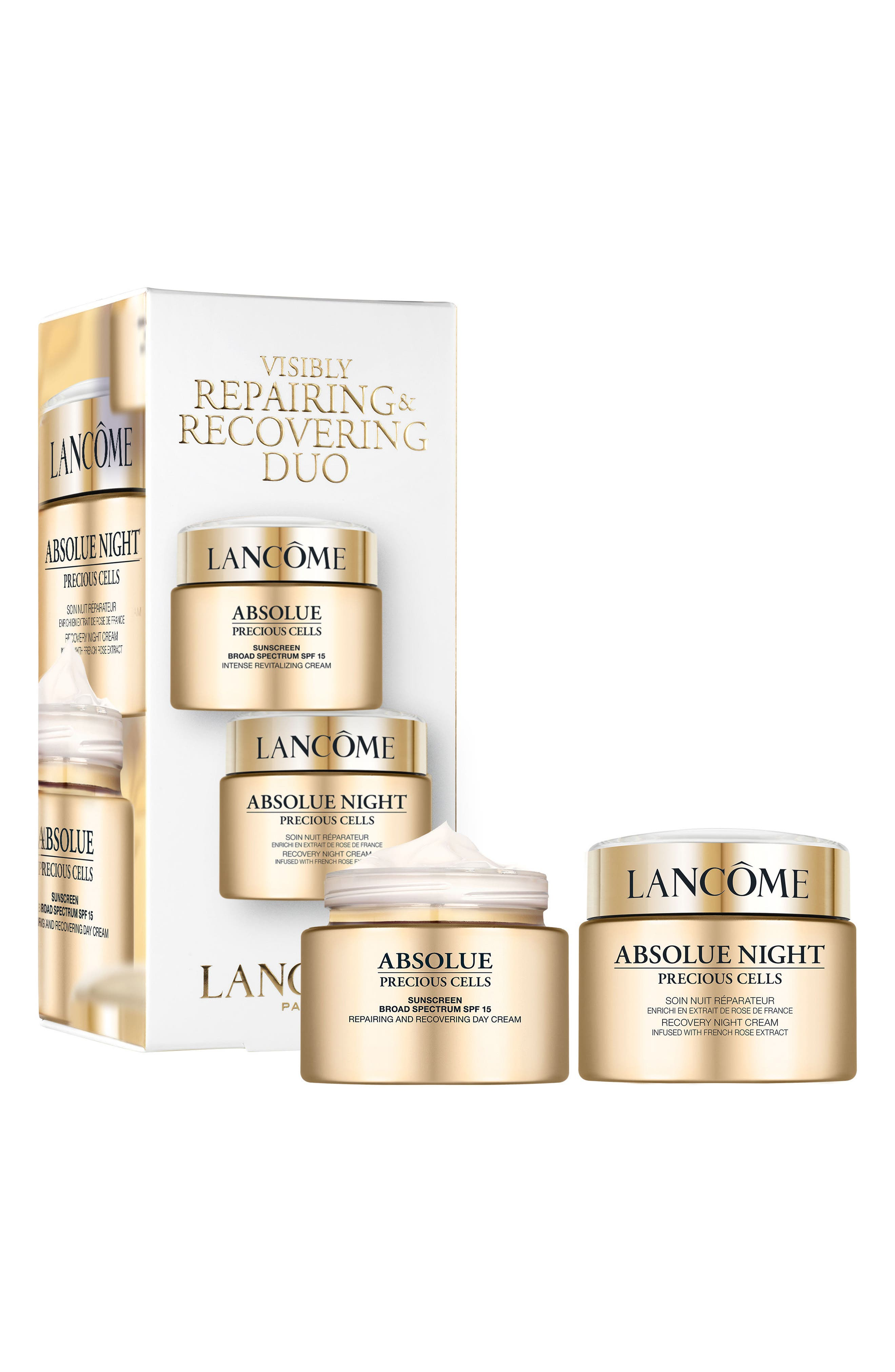 Alternate Image 1 Selected - Lancôme Absolue Precious Cells Visibly Repairing & Recovering Duo ($380 Value)