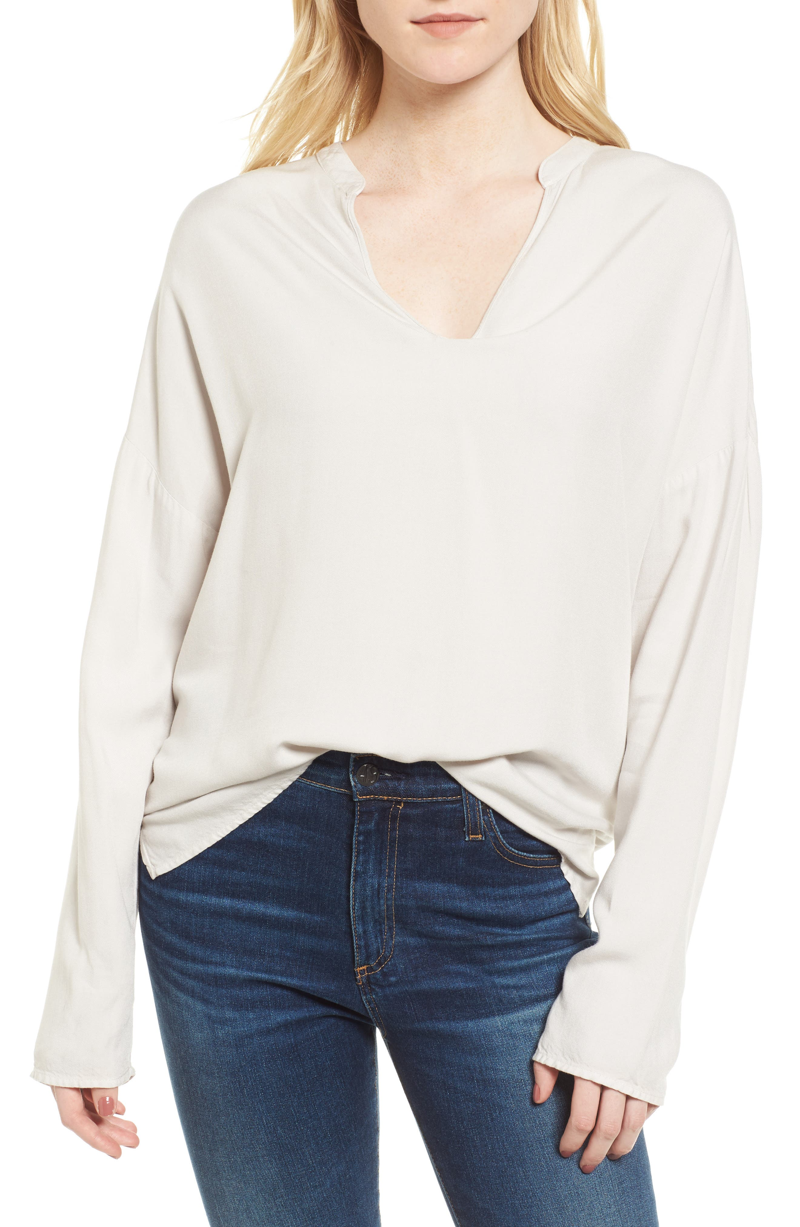 Alternate Image 1 Selected - James Perse Notch Neck Blouse