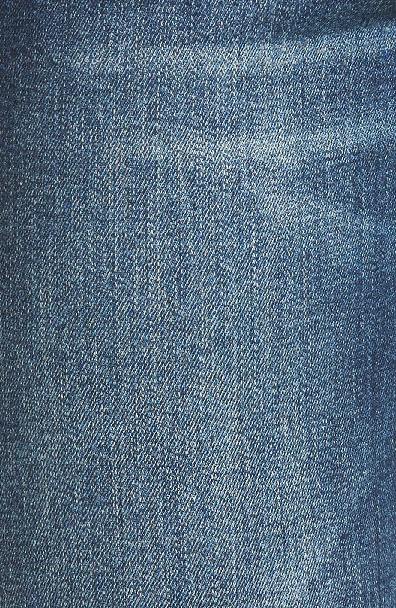 Piper Grommet Detail Skinny Jeans,                             Alternate thumbnail 5, color,                             Westgate