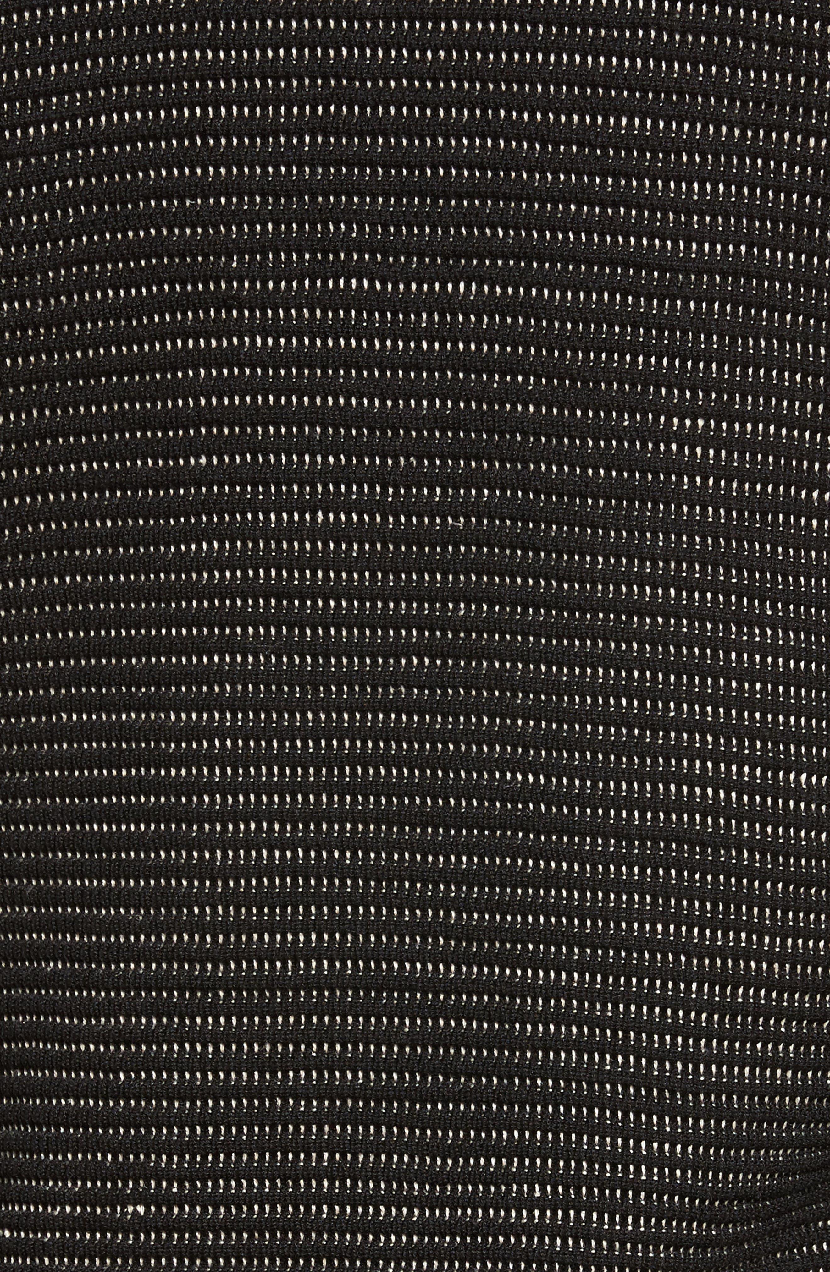Silk Blend Ottoman Knit Cardigan,                             Alternate thumbnail 5, color,                             Black Natural