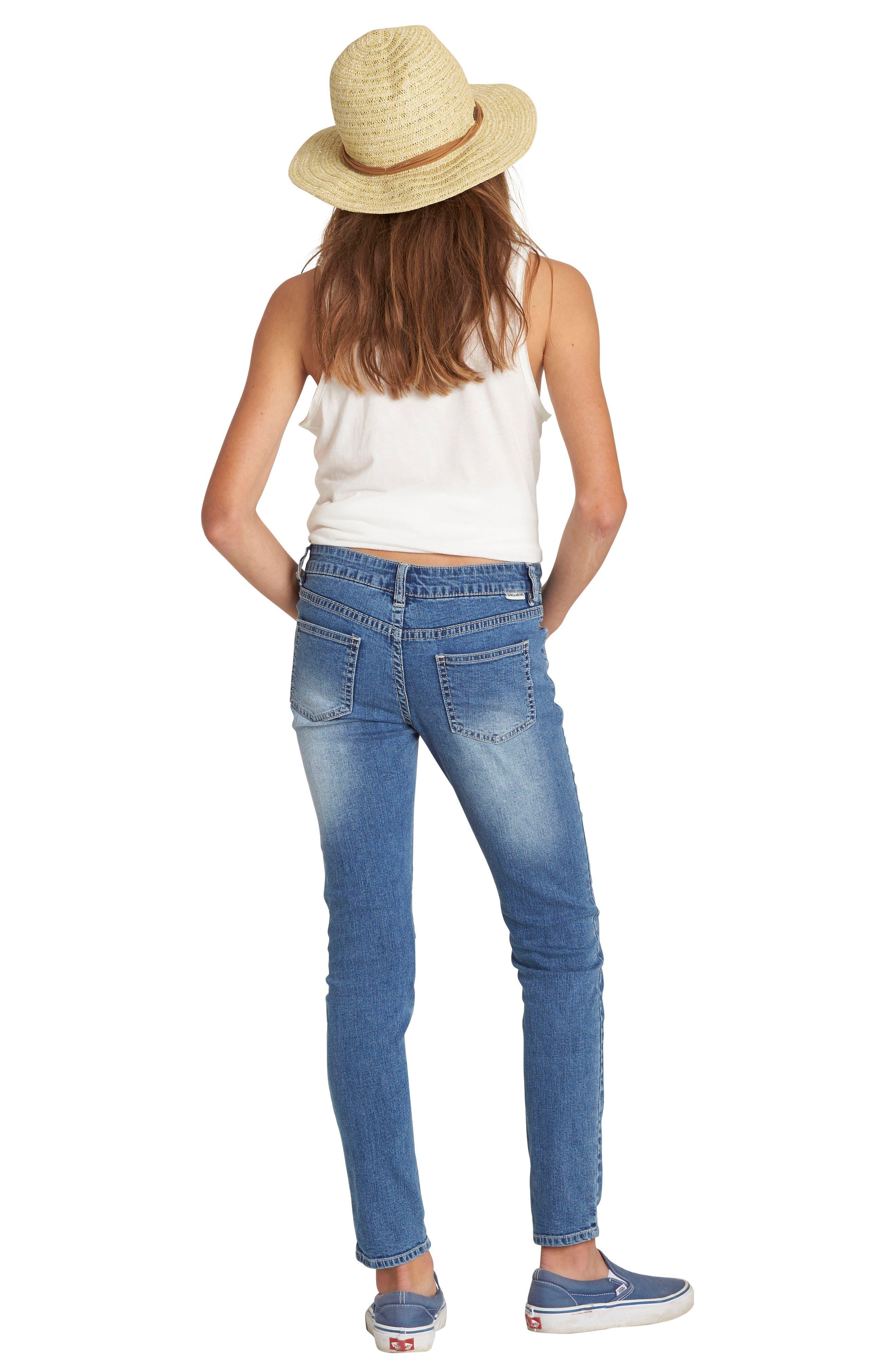 Alternate Image 5  - Billabong Side to Side Skinny Jeans (Big Girls)