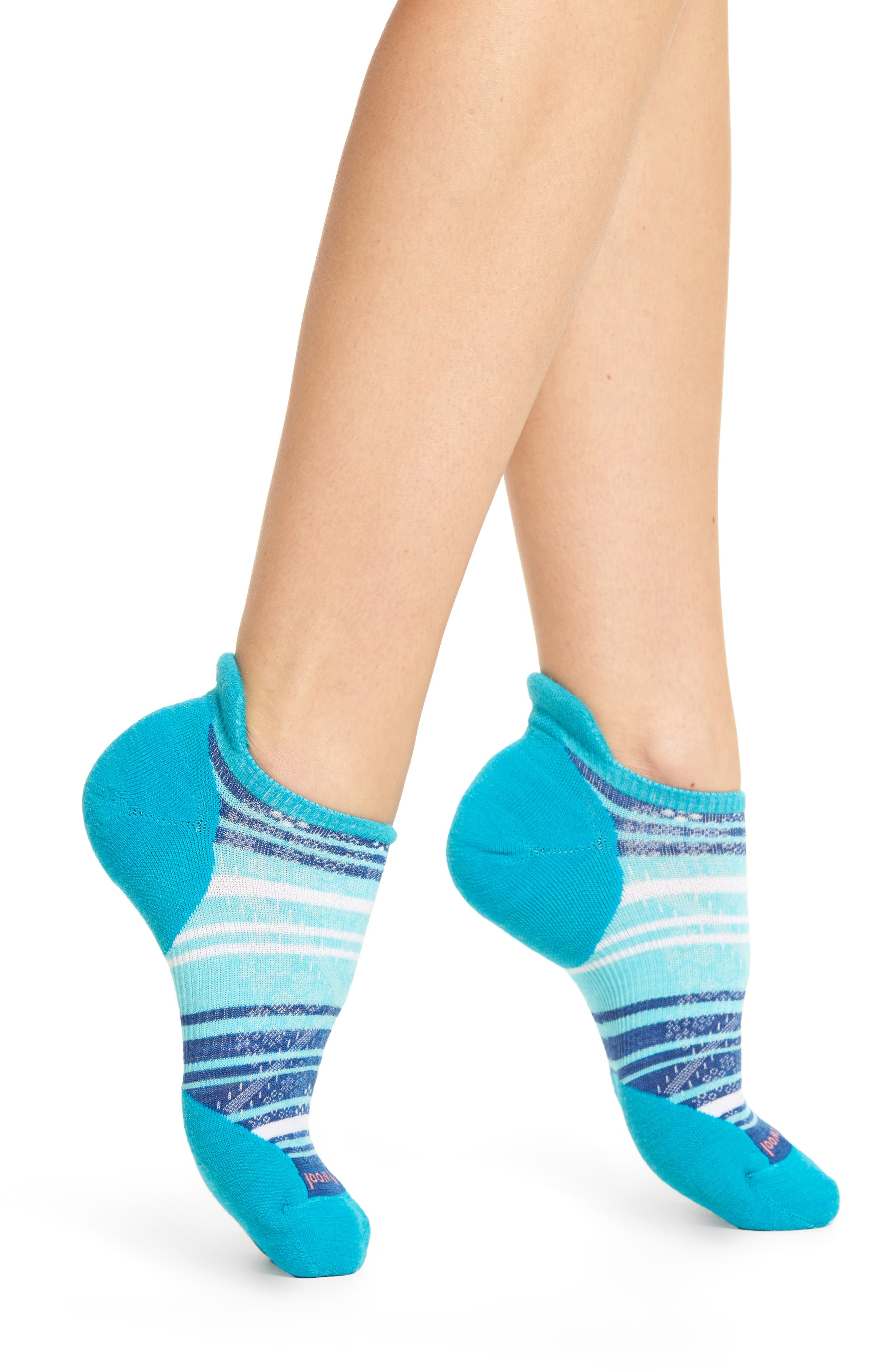 PhD Run Elite Micro No-Show Socks,                             Main thumbnail 1, color,                             Capri