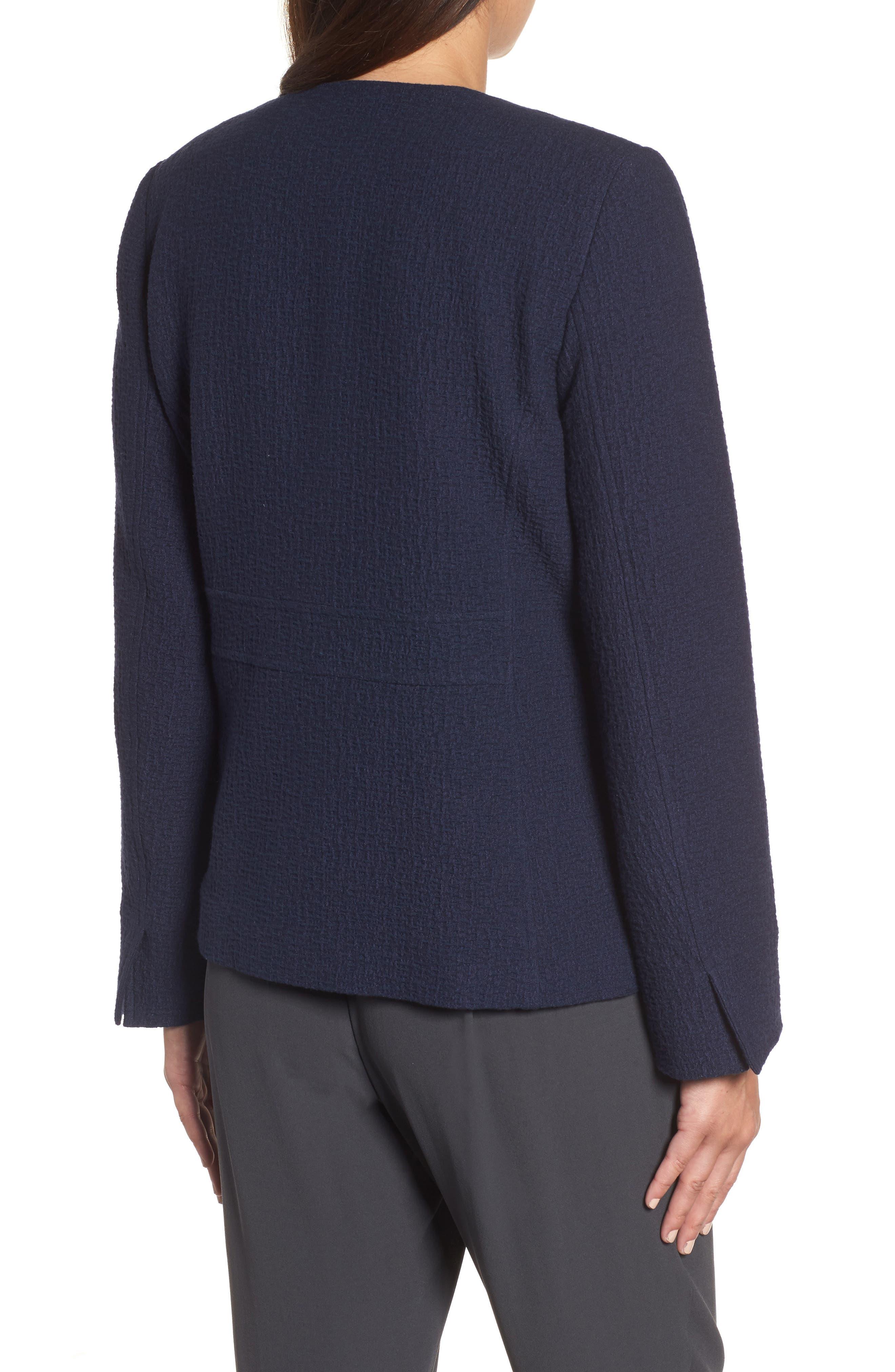 Alternate Image 2  - Eileen Fisher Open Front Round Neck Jacket