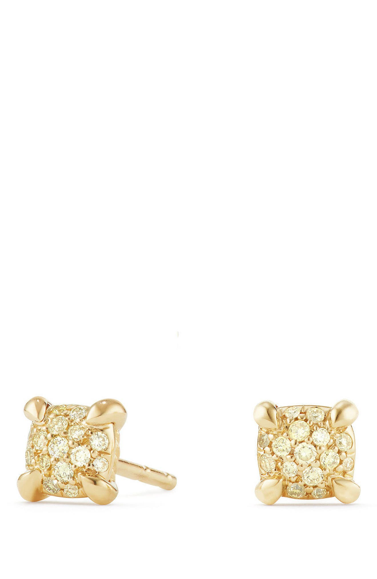 Châtelaine Stud Earrings with Diamonds,                             Main thumbnail 1, color,                             Yellow Diamond