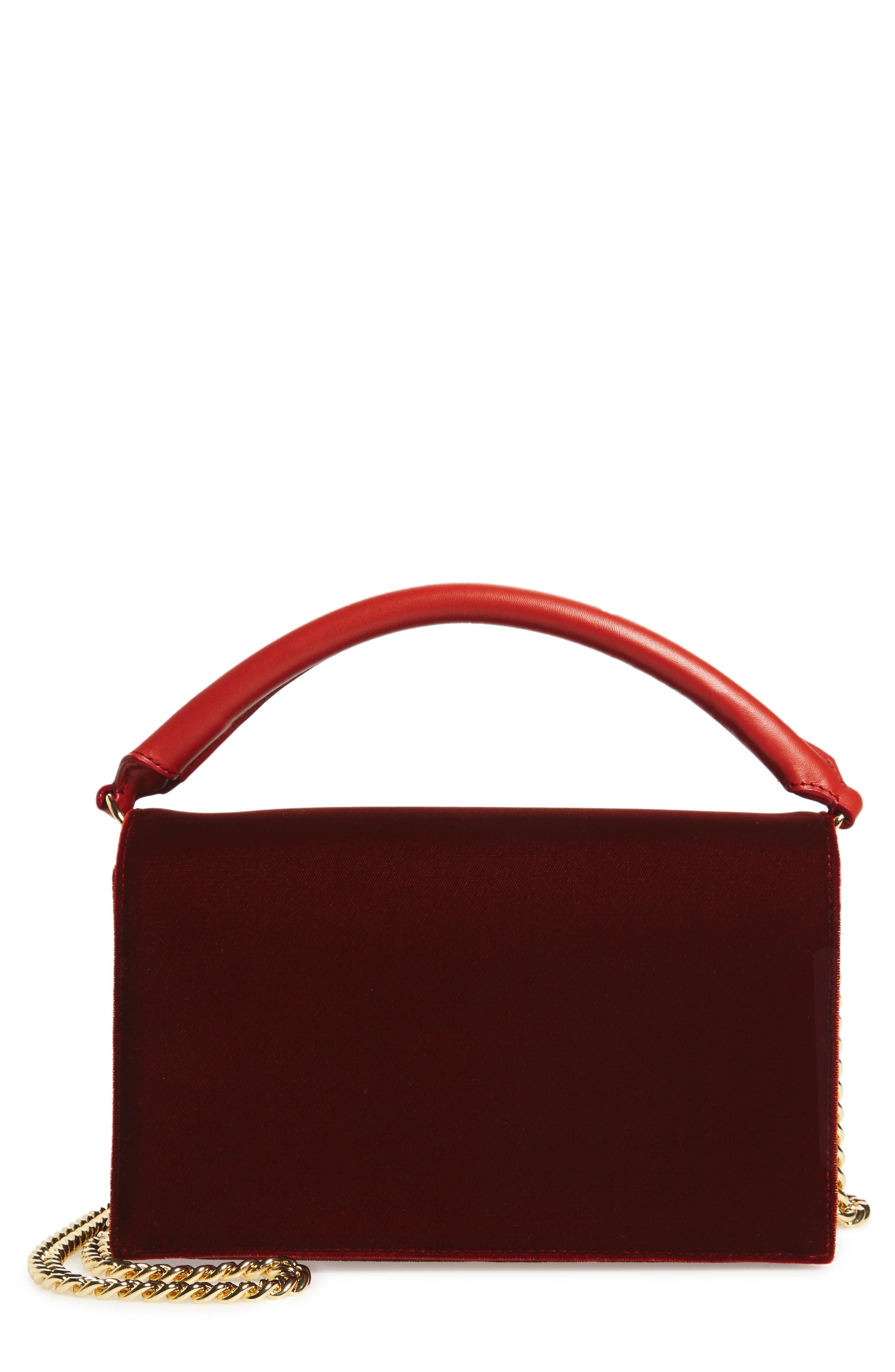 Diane von Furstenberg Soirée Velvet Top Handle Bag