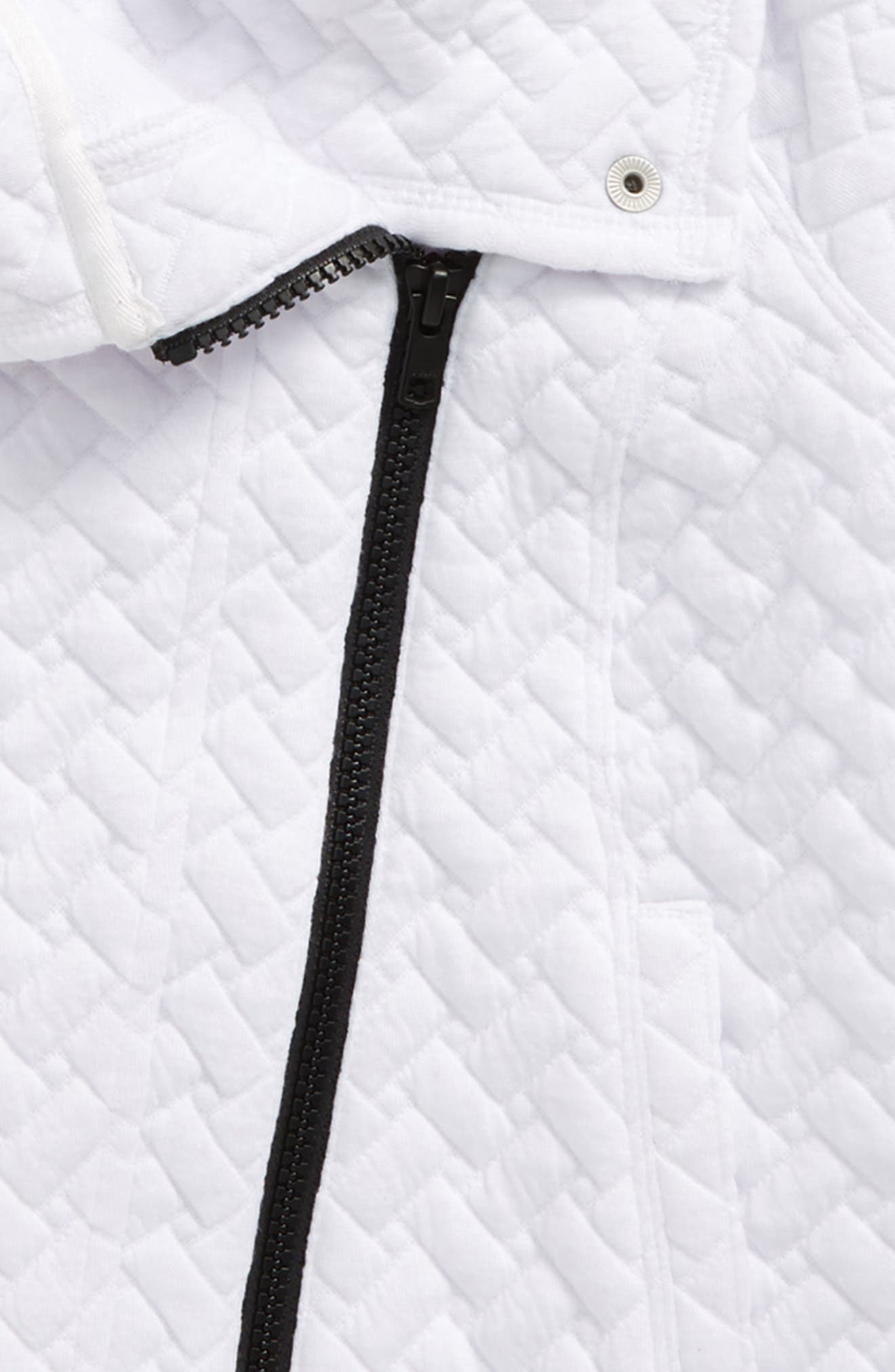 Quilted Moto Jacket,                             Alternate thumbnail 2, color,                             White