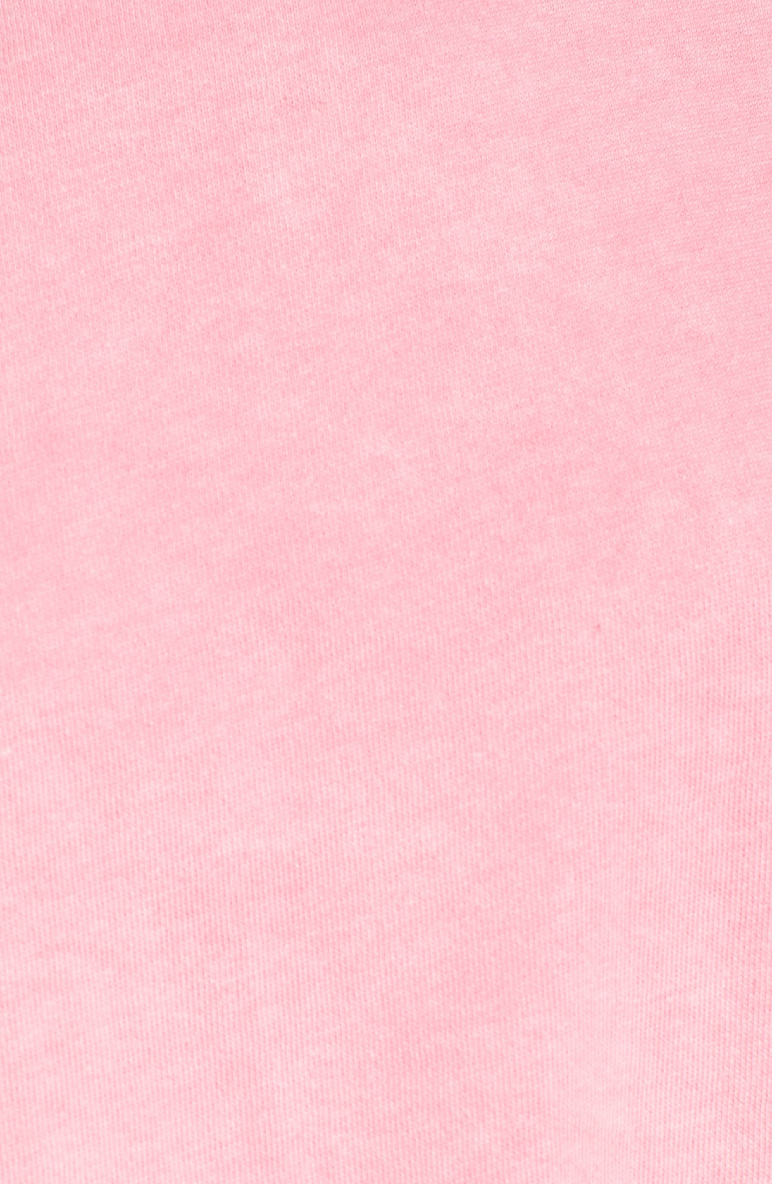 Washed Crop Sweatshirt,                             Alternate thumbnail 5, color,                             Pink