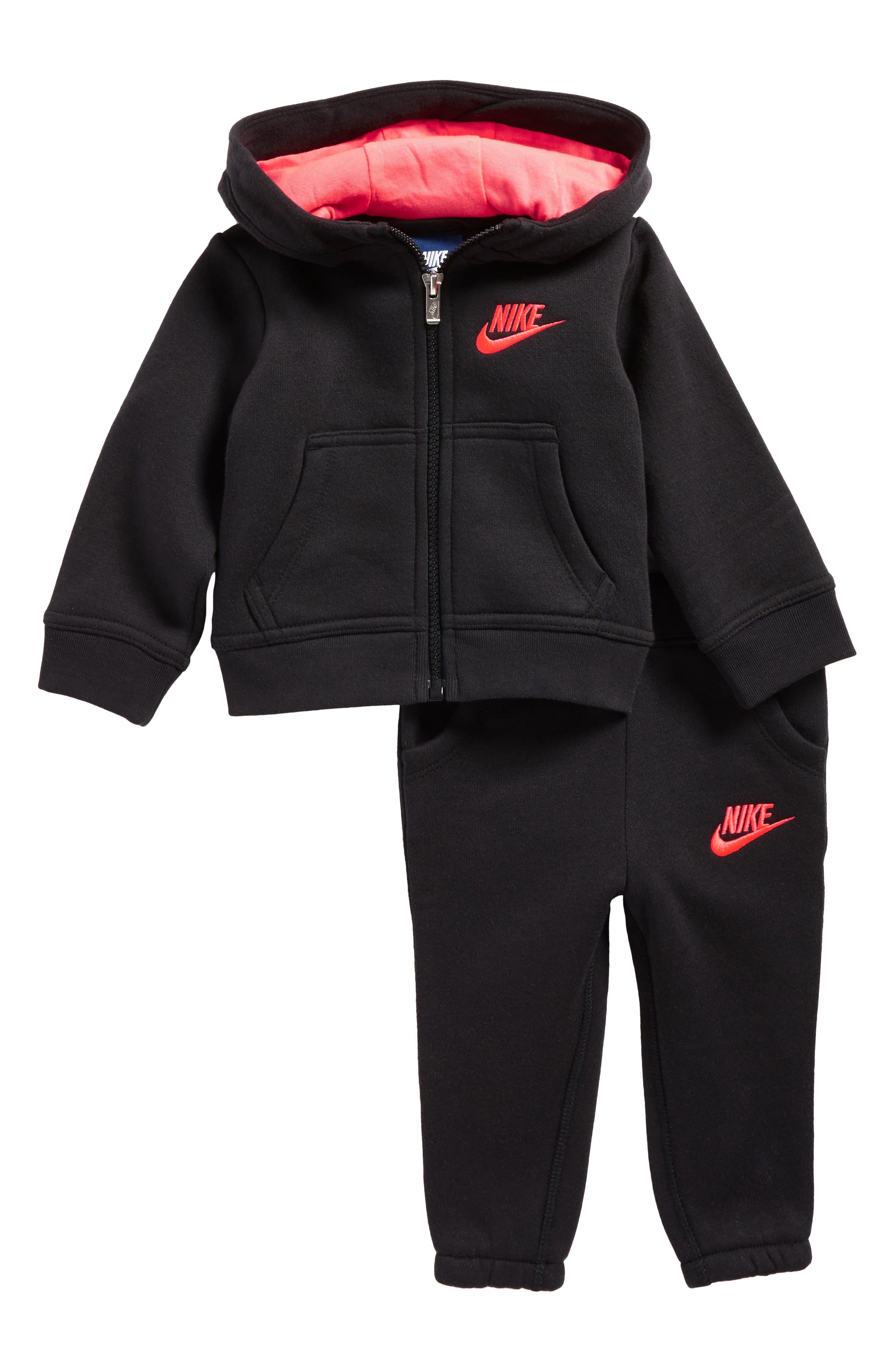 Nike Fleece Hoodie & Pants Set (Baby Girls)