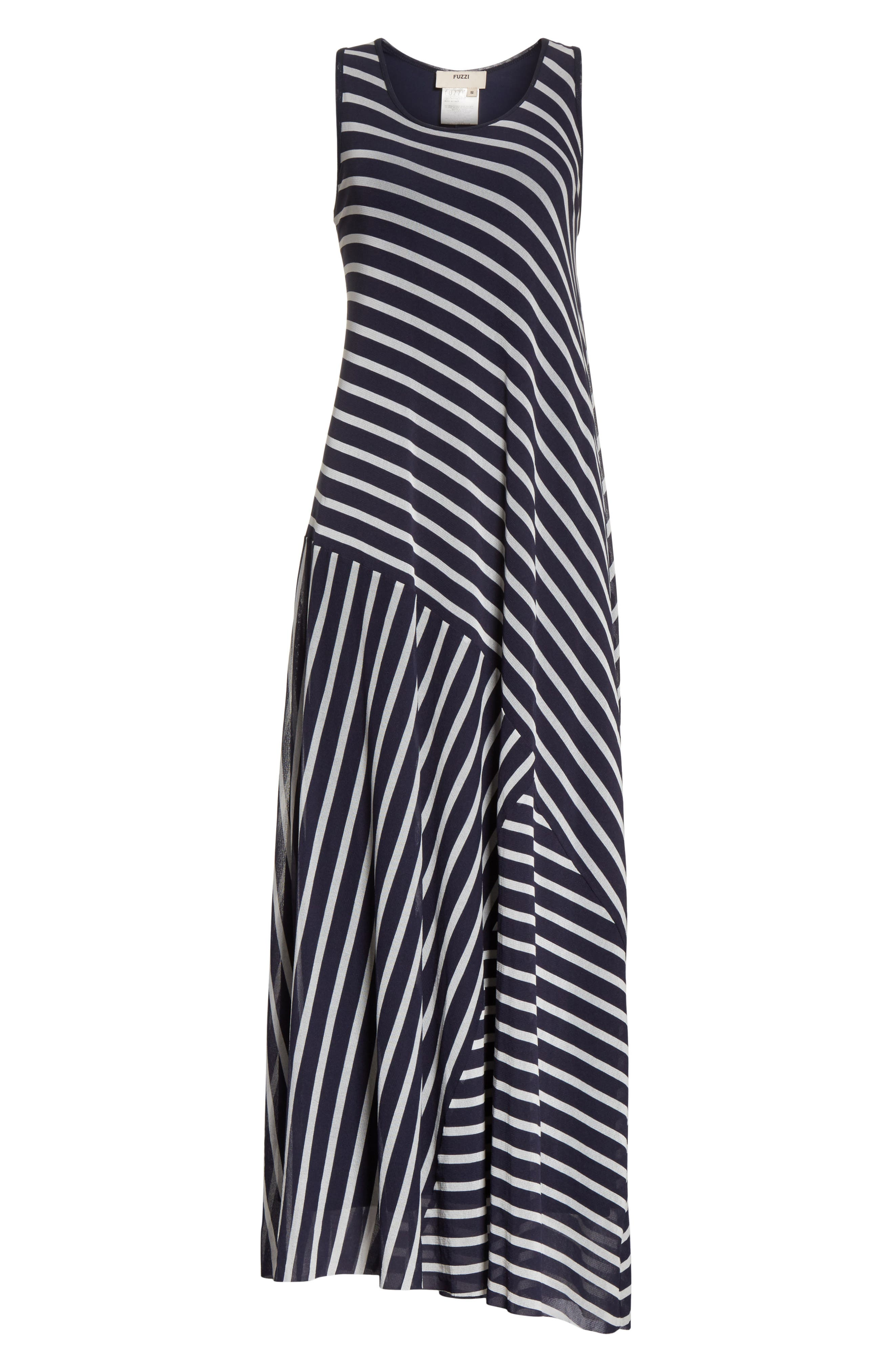 Stripe Maxi Tank Dress,                             Alternate thumbnail 6, color,                             Zaffiro