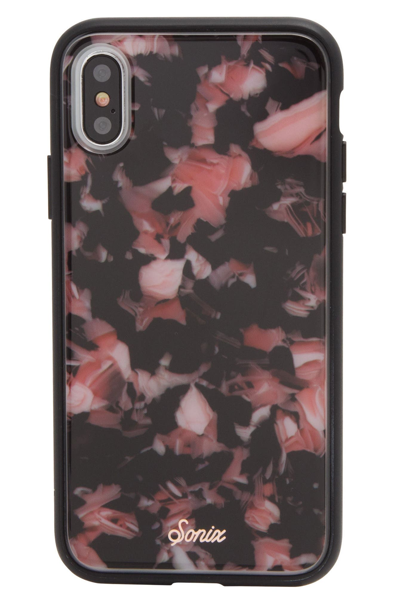Rose Tortoise Print iPhone X Case,                         Main,                         color, Pink
