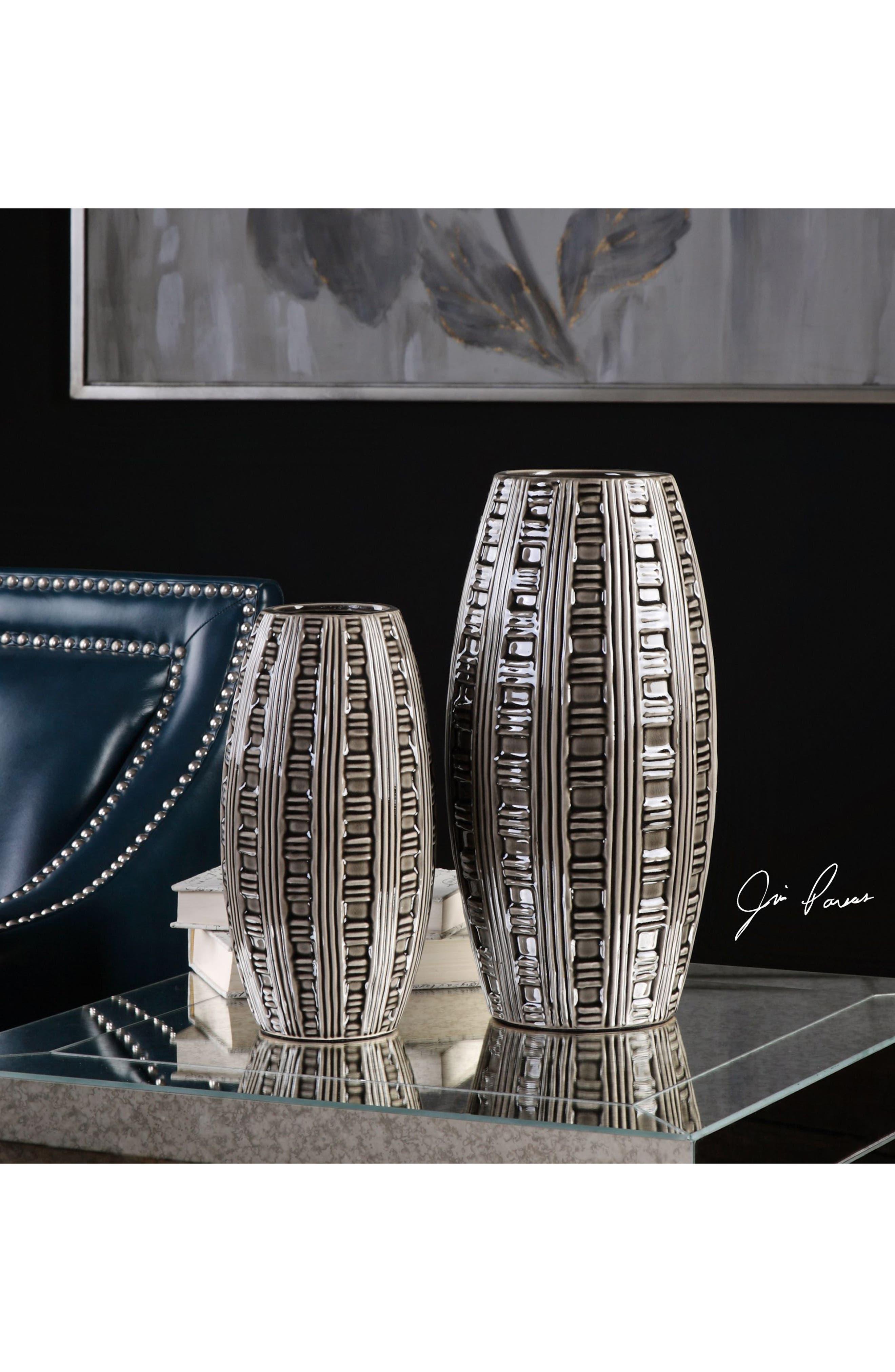 Aura Set of 2 Vases,                             Alternate thumbnail 2, color,                             Grey