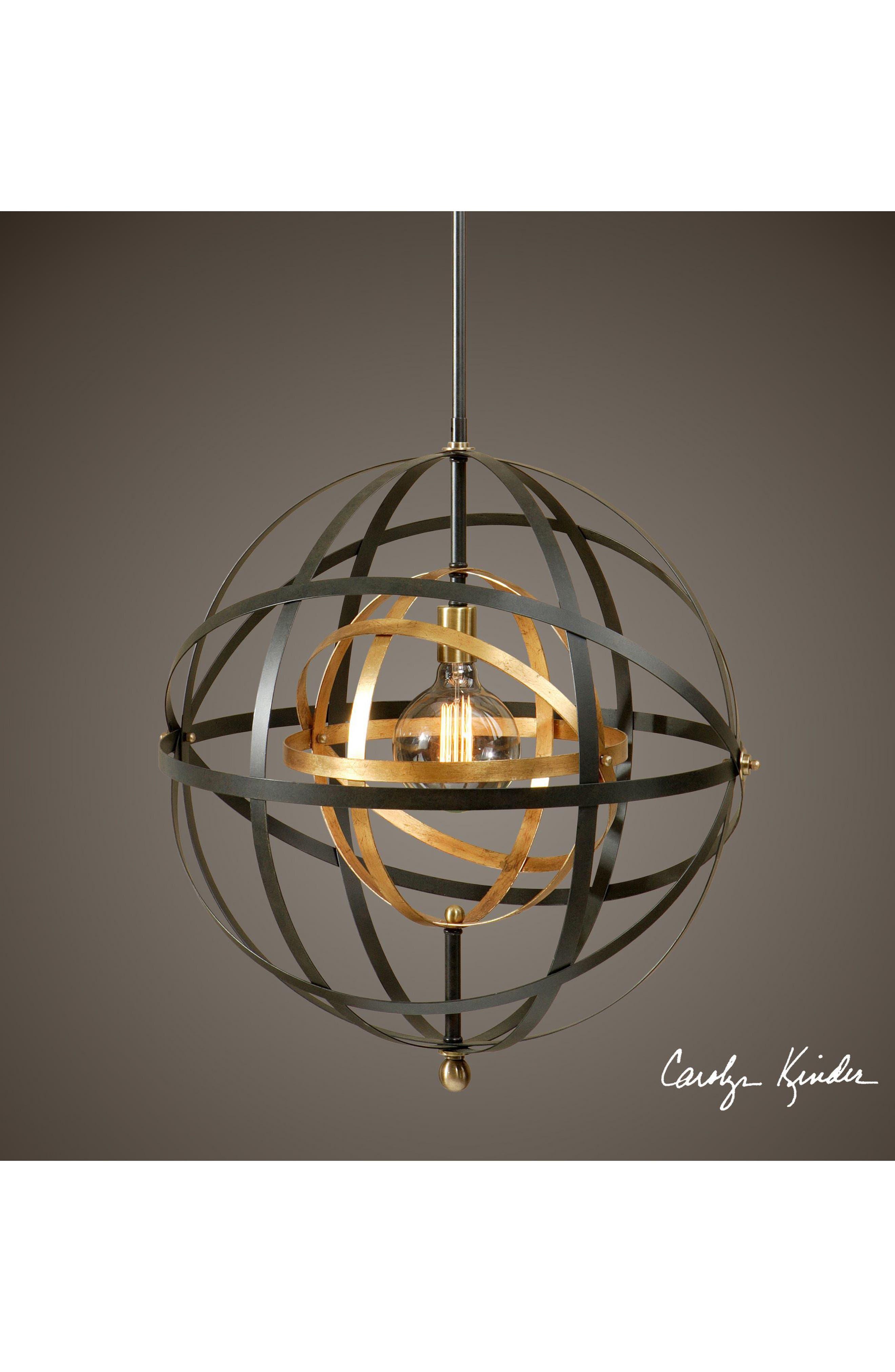 Rondure Pendant Light Fixture,                             Alternate thumbnail 2, color,                             Metallic Rust/ Copper