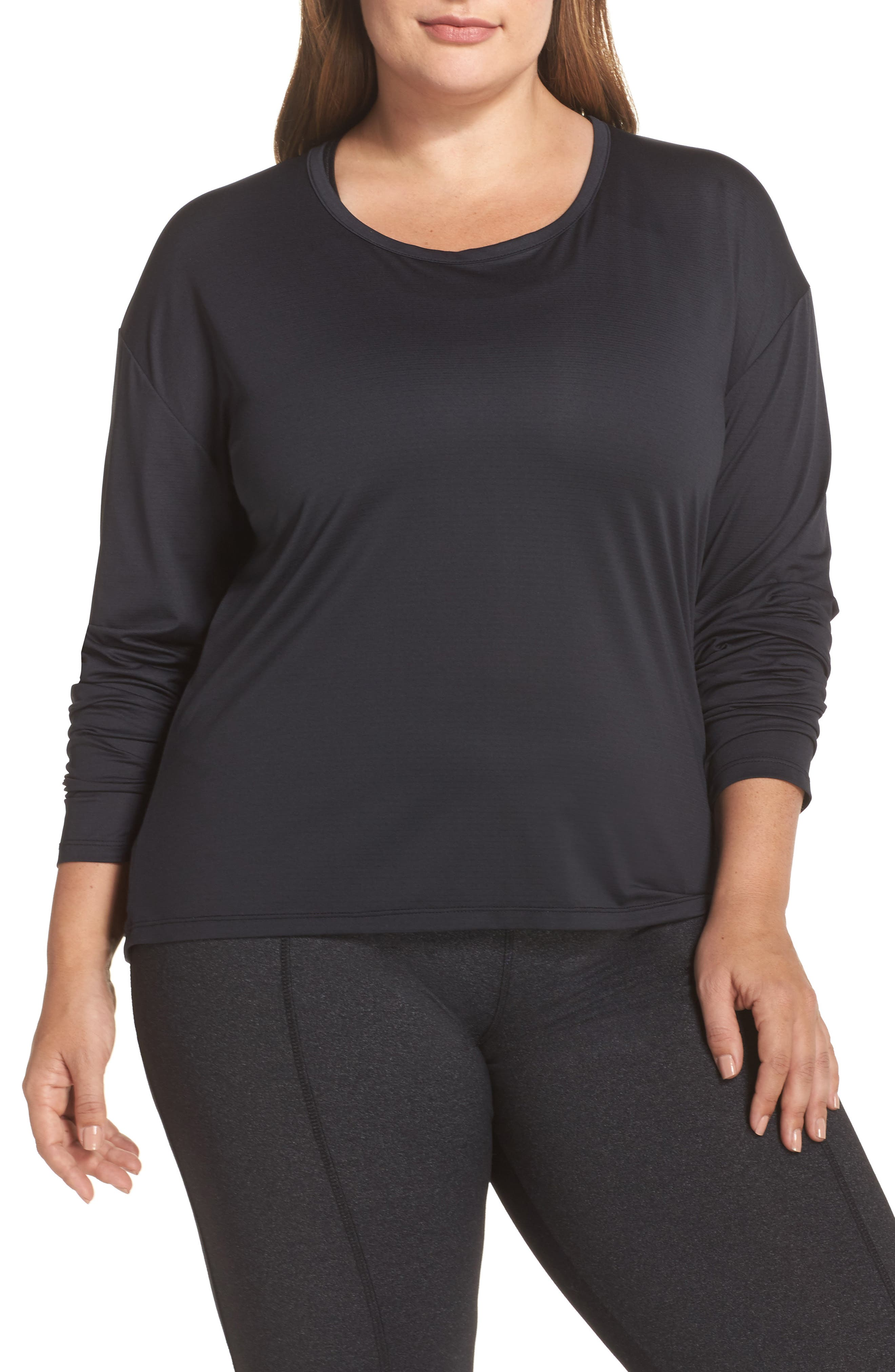 Main Image - Marika Curves Shift Open Back Top (Plus Size)