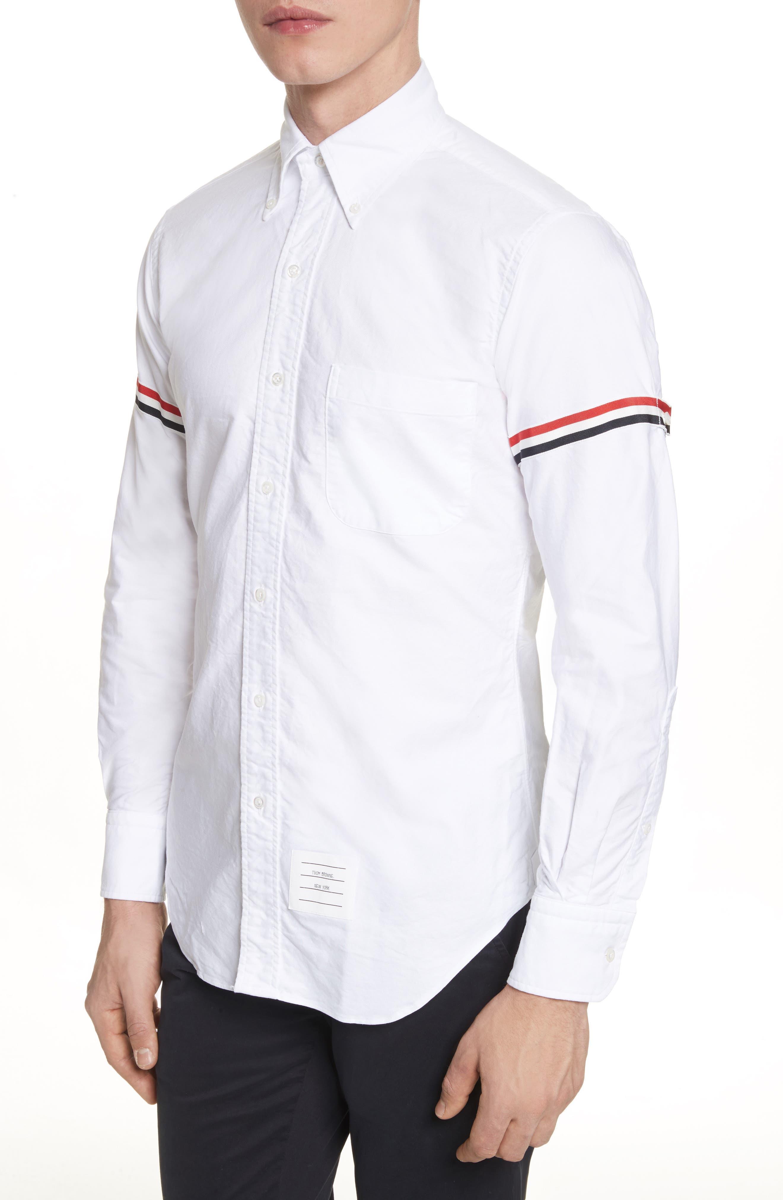 Oxford Shirt,                             Alternate thumbnail 3, color,                             White