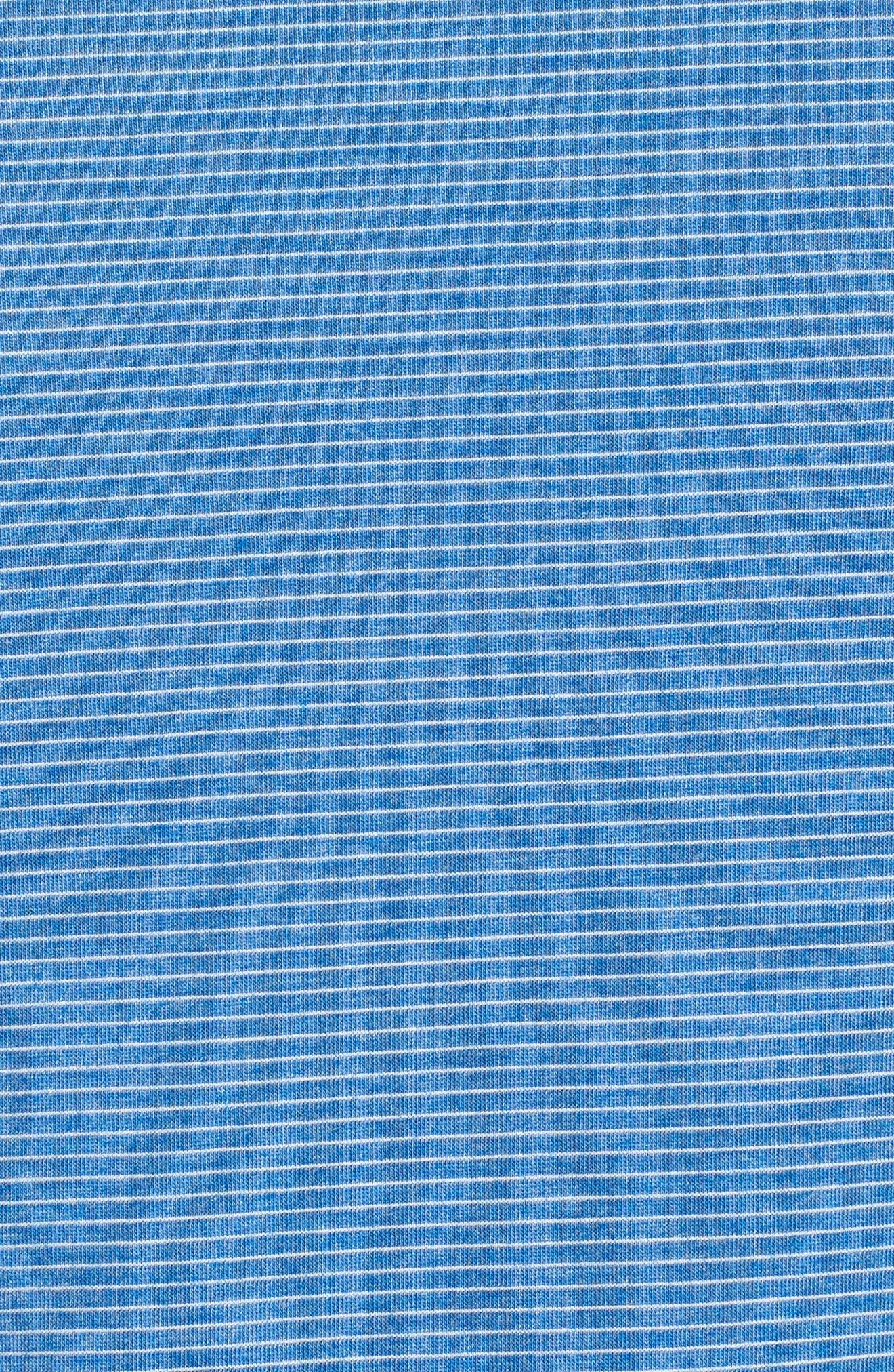 Threadborne Run Mesh Hoodie,                             Alternate thumbnail 5, color,                             Lapis Blue