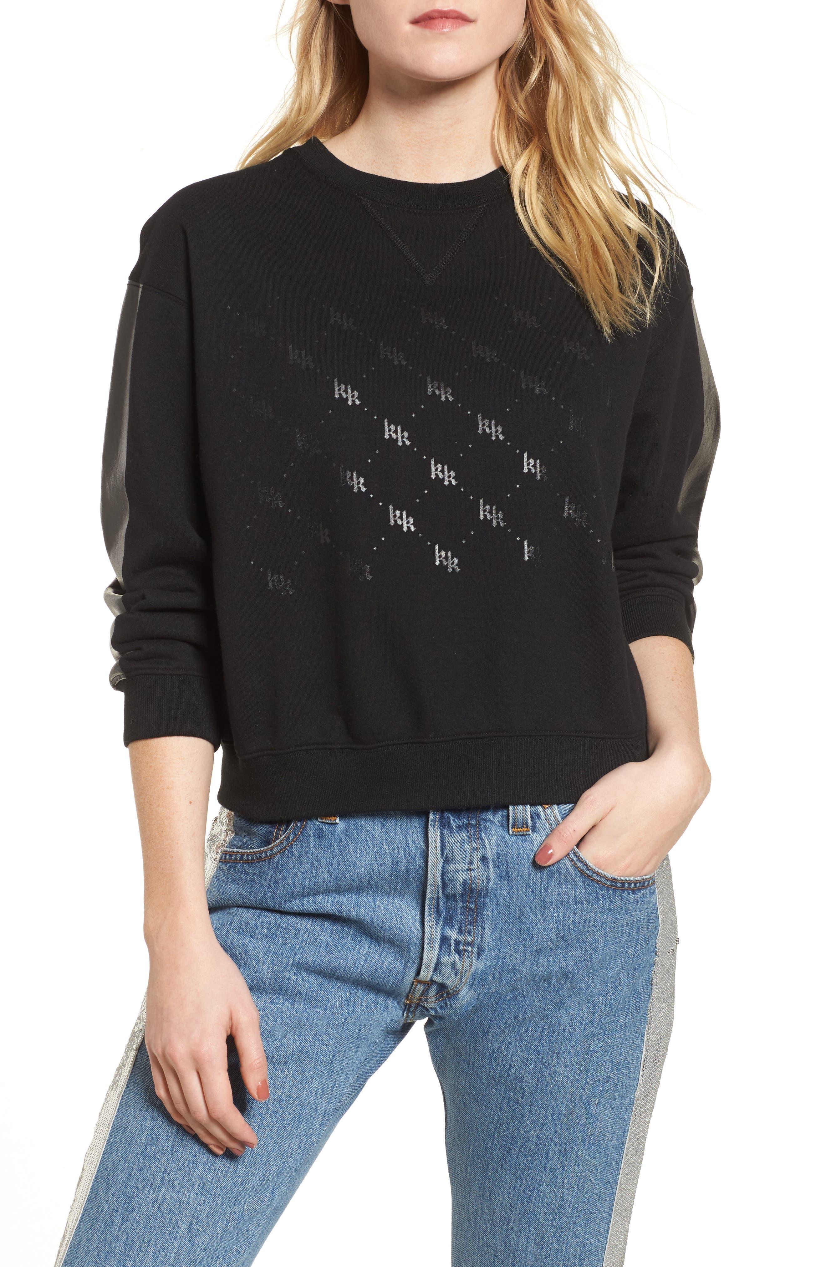 Sweatshirt,                         Main,                         color, Black