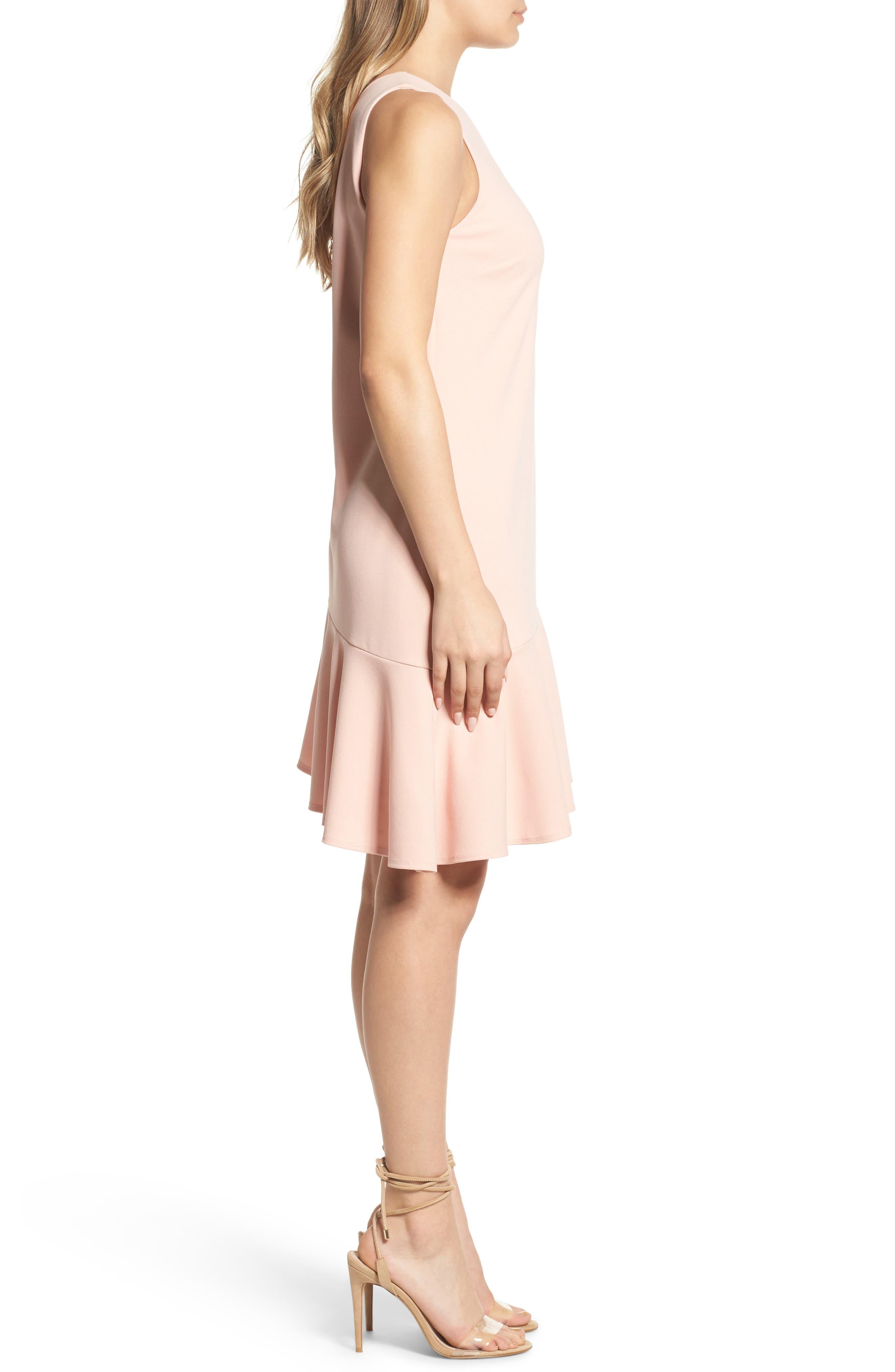 Alternate Image 3  - Charles Henry One-Shoulder Ruffle Dress