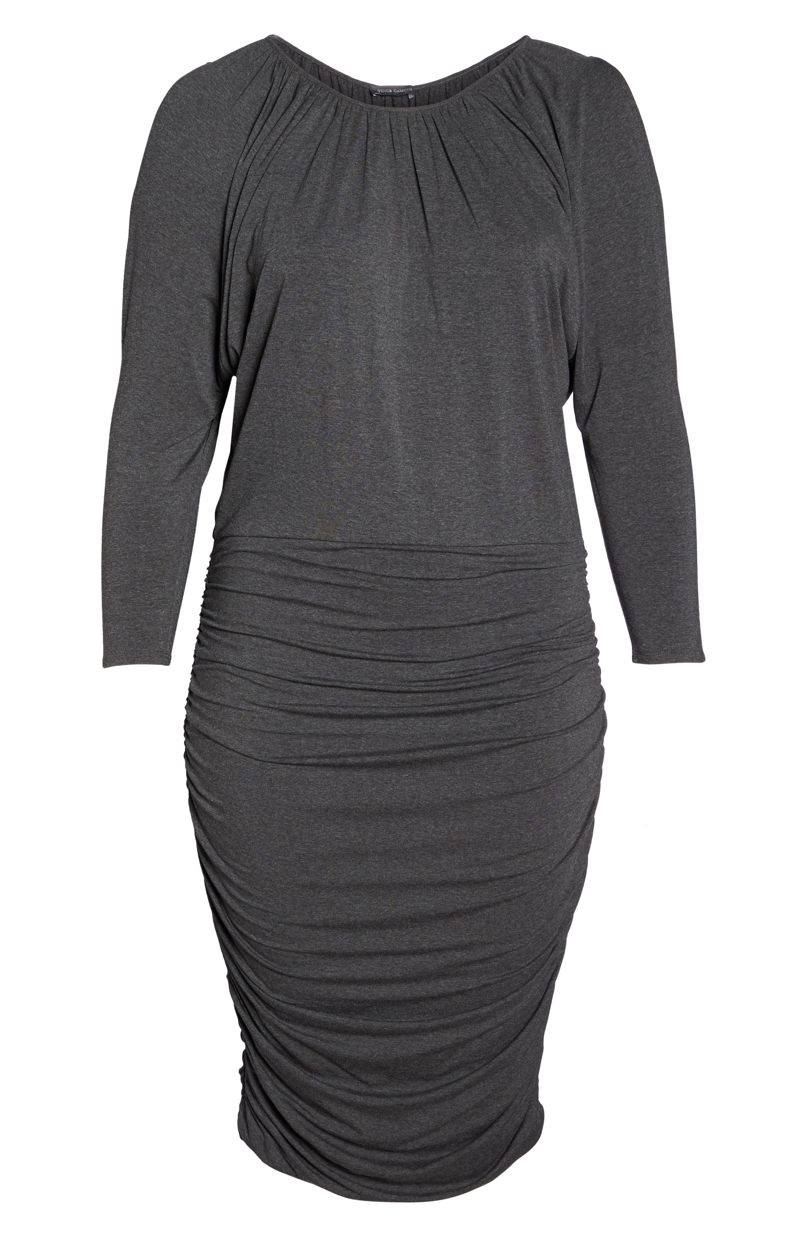 Slit Sleeve Knit Sheath Dress,                             Alternate thumbnail 6, color,                             Medium Heather Grey