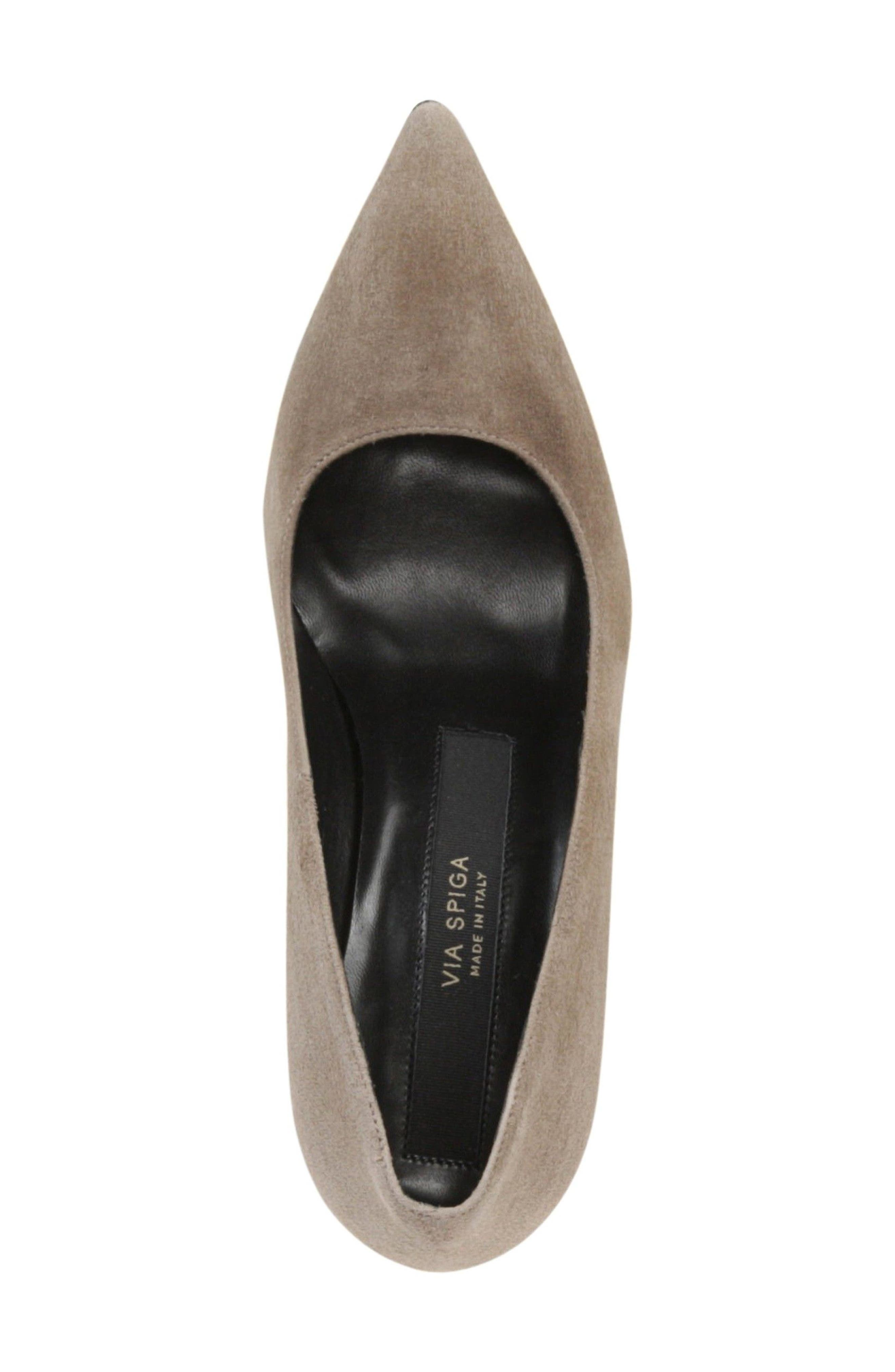 Nikole Pointy Toe Pump,                             Alternate thumbnail 5, color,                             Mink Suede