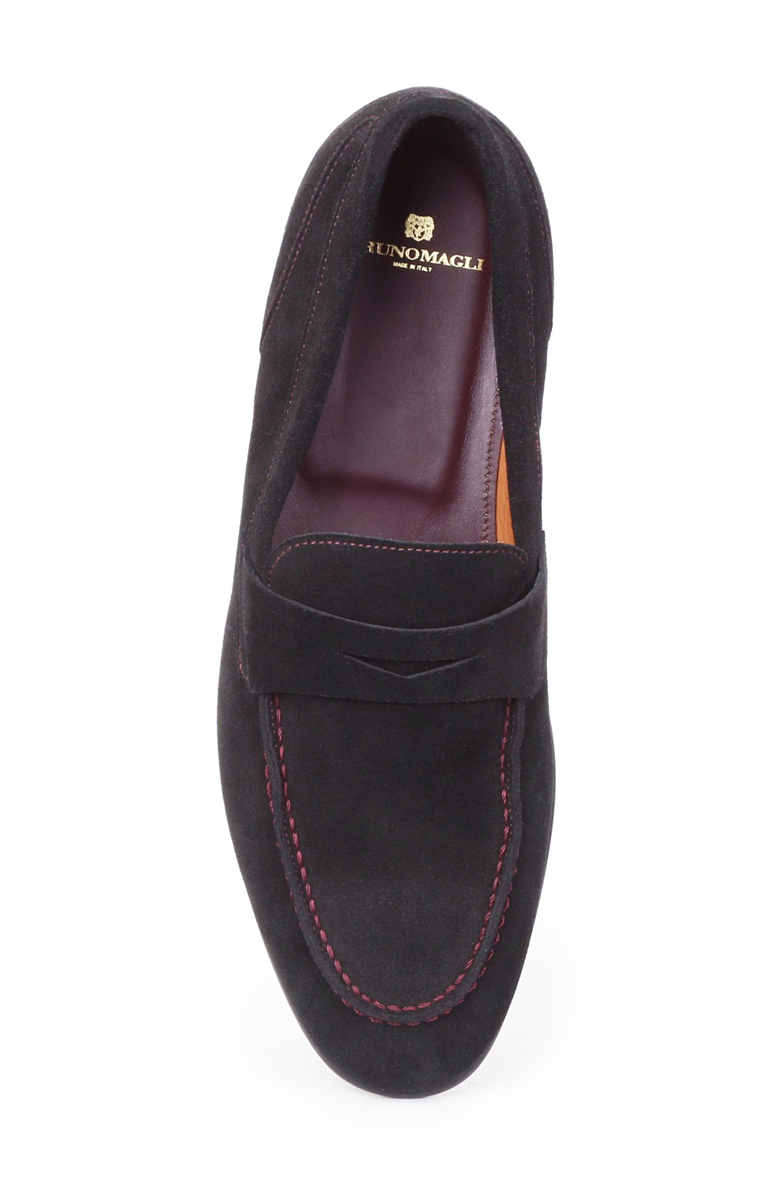 Silas Penny Loafer,                             Alternate thumbnail 6, color,                             Navy