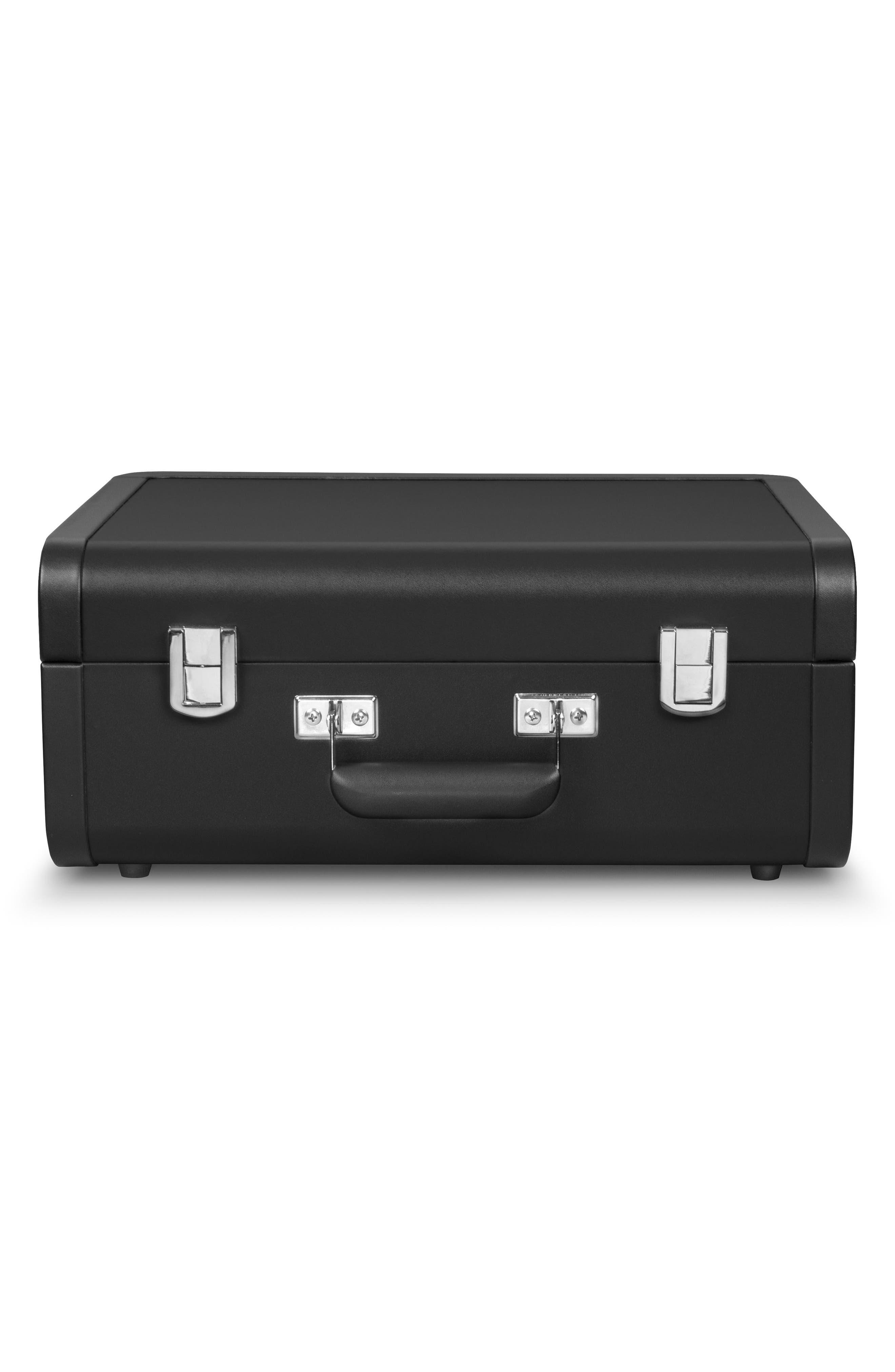 Portfolio Bluetooth Portable Turntable,                             Alternate thumbnail 4, color,                             Black