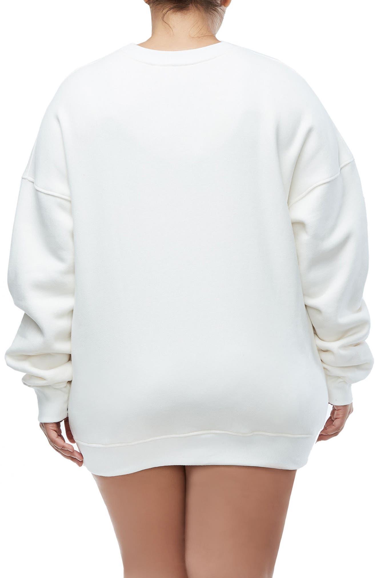 The Crystal Icon Sweatshirt,                             Alternate thumbnail 6, color,                             Good White