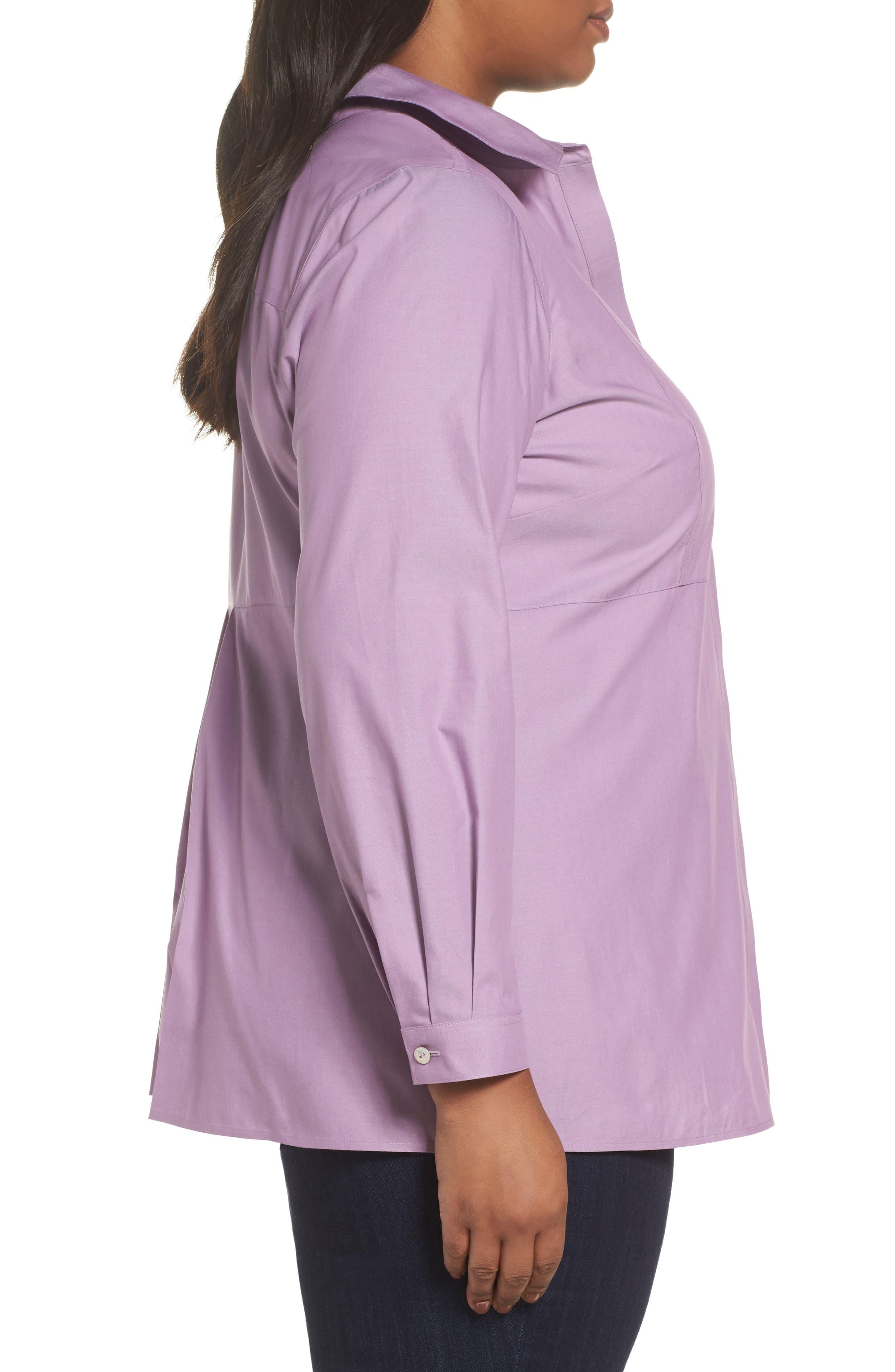 Pinpoint Oxford Cloth Shirt,                             Alternate thumbnail 3, color,                             Mauve