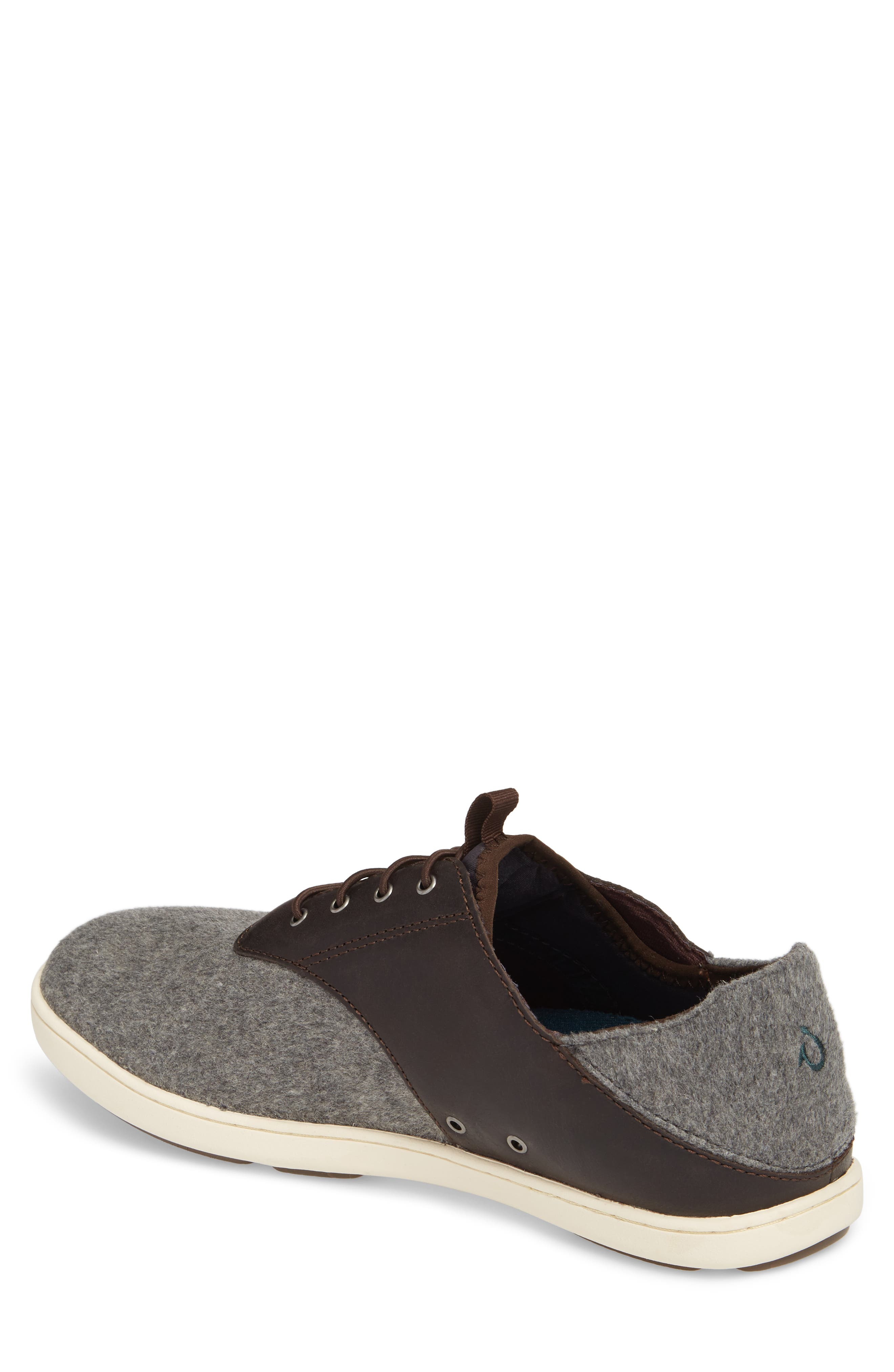 Nohea Moku Hulu Sneaker,                             Alternate thumbnail 2, color,                             Dark Roast/ Charcoal Wool
