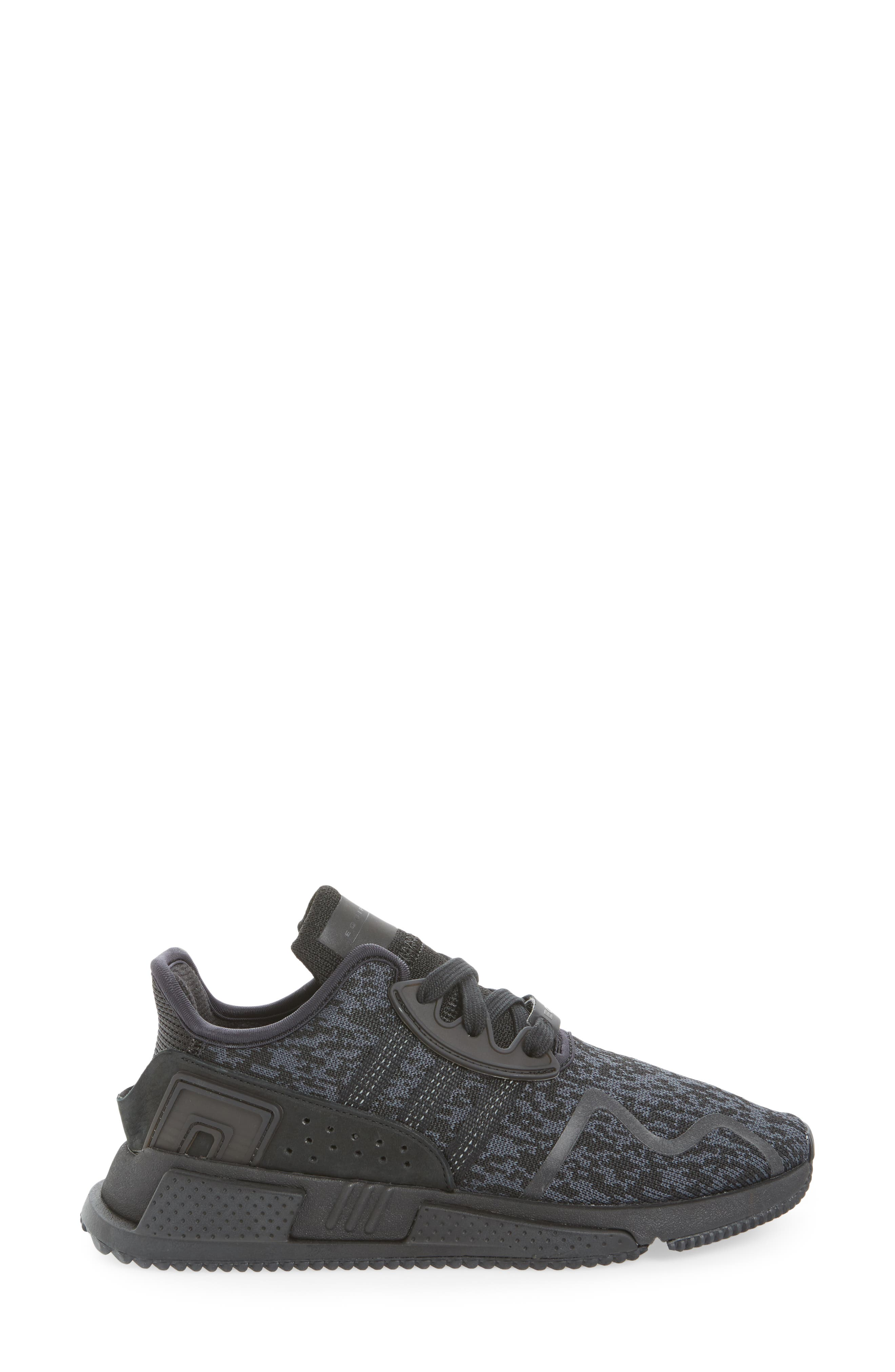 EQT Cushion ADV Sneaker,                             Alternate thumbnail 3, color,                             Core Black/ Core Black/ White