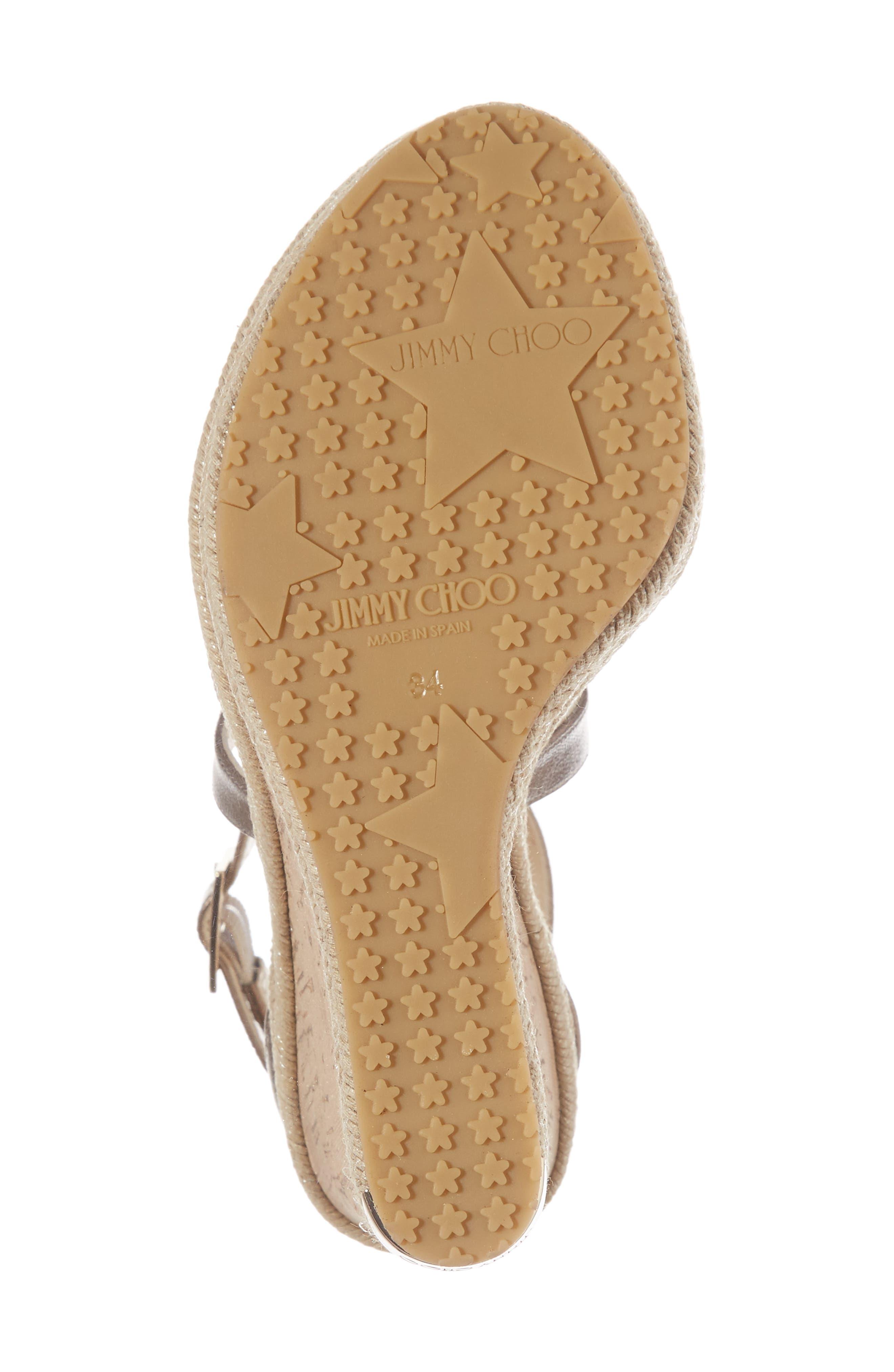 Portia Wedge Platform Sandal,                             Alternate thumbnail 6, color,                             Antique Gold