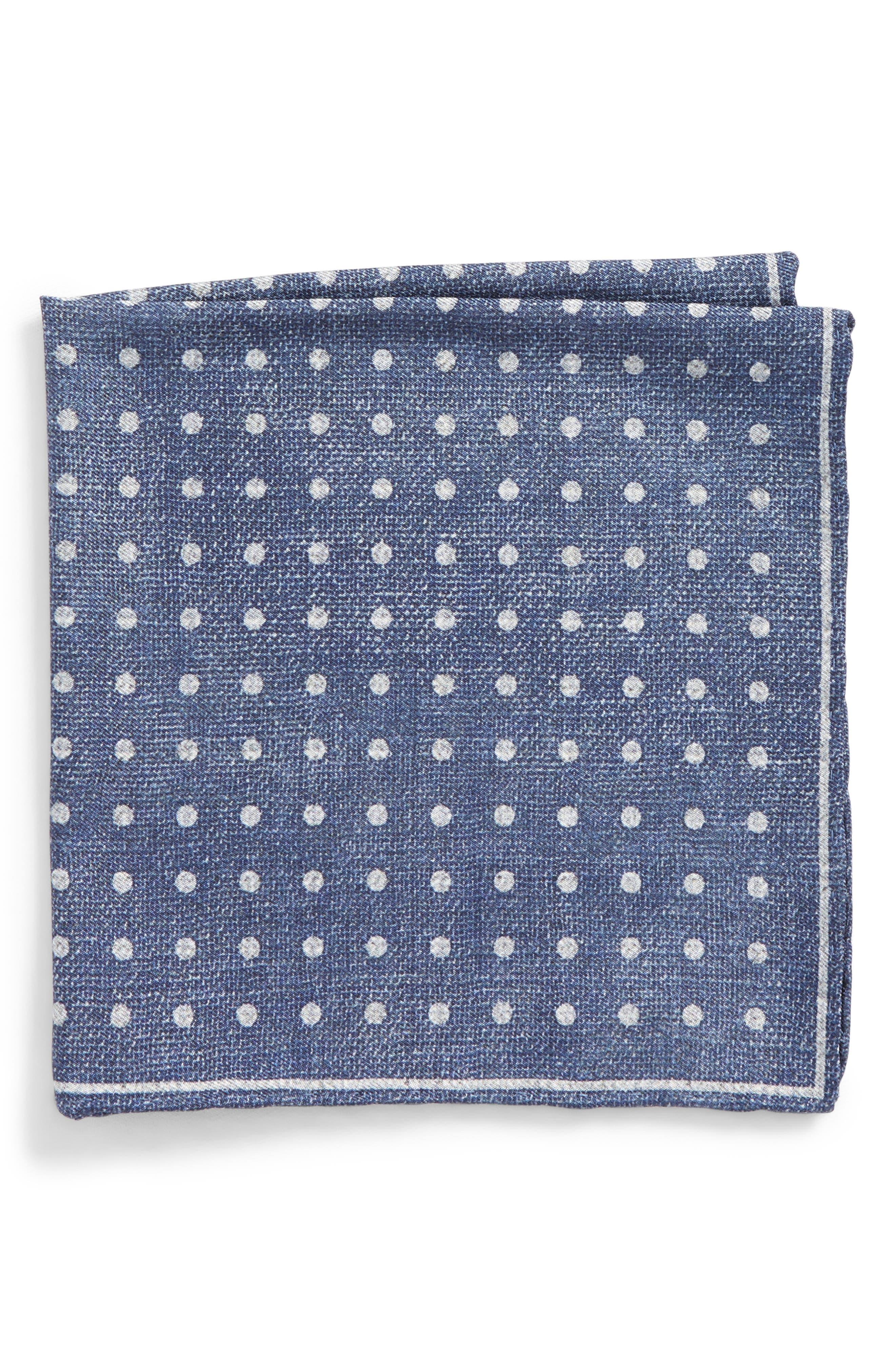 Main Image - Canali Dot Silk Pocket Square