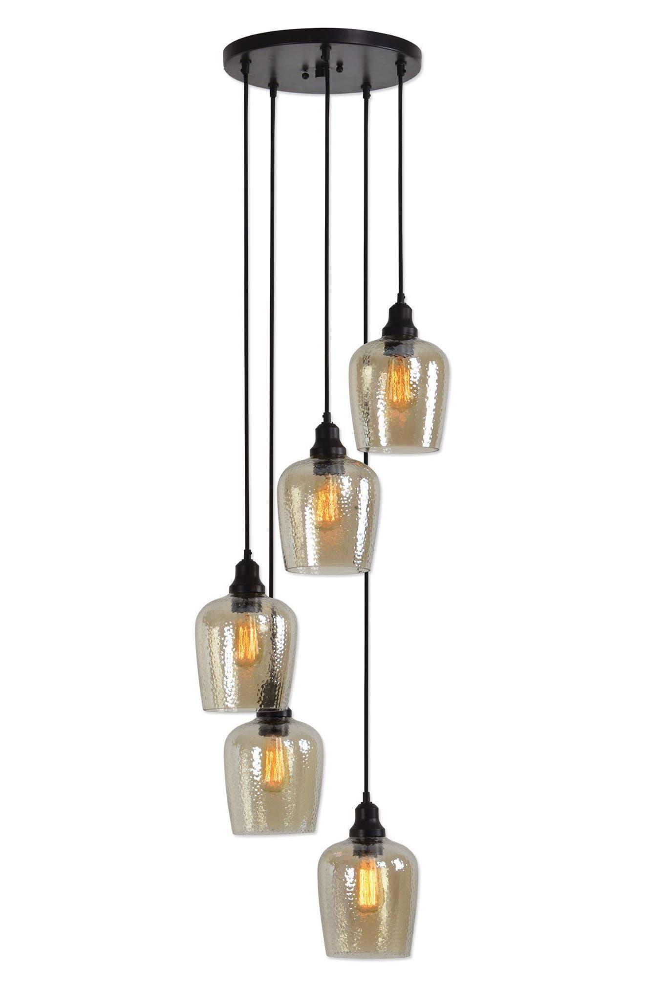 Aarush Pendant Lamp,                             Alternate thumbnail 6, color,                             Brown