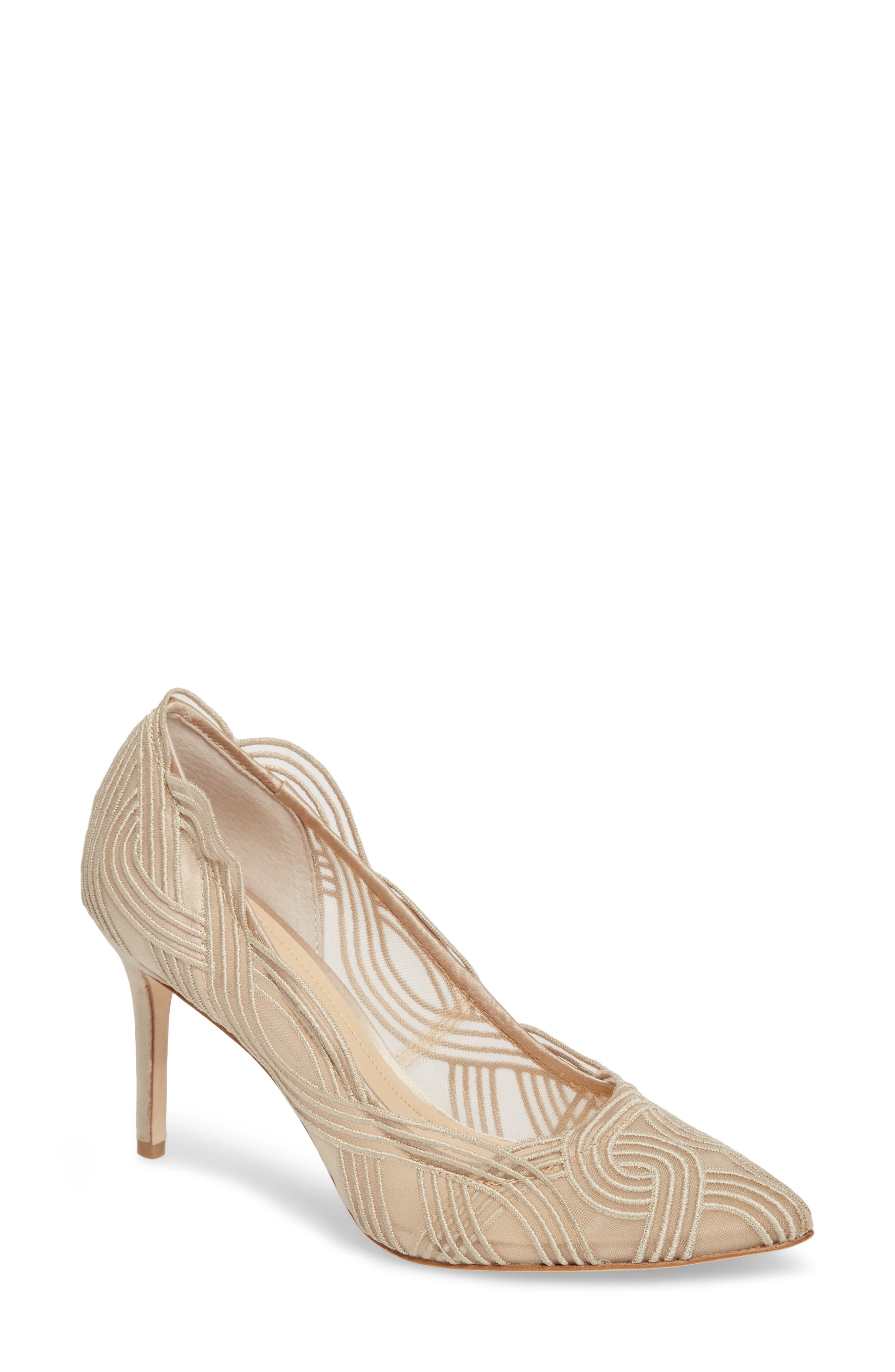 Imagine Vince Camuto Maeson Textured Mesh Pump,                             Main thumbnail 1, color,                             Light Sand Mesh