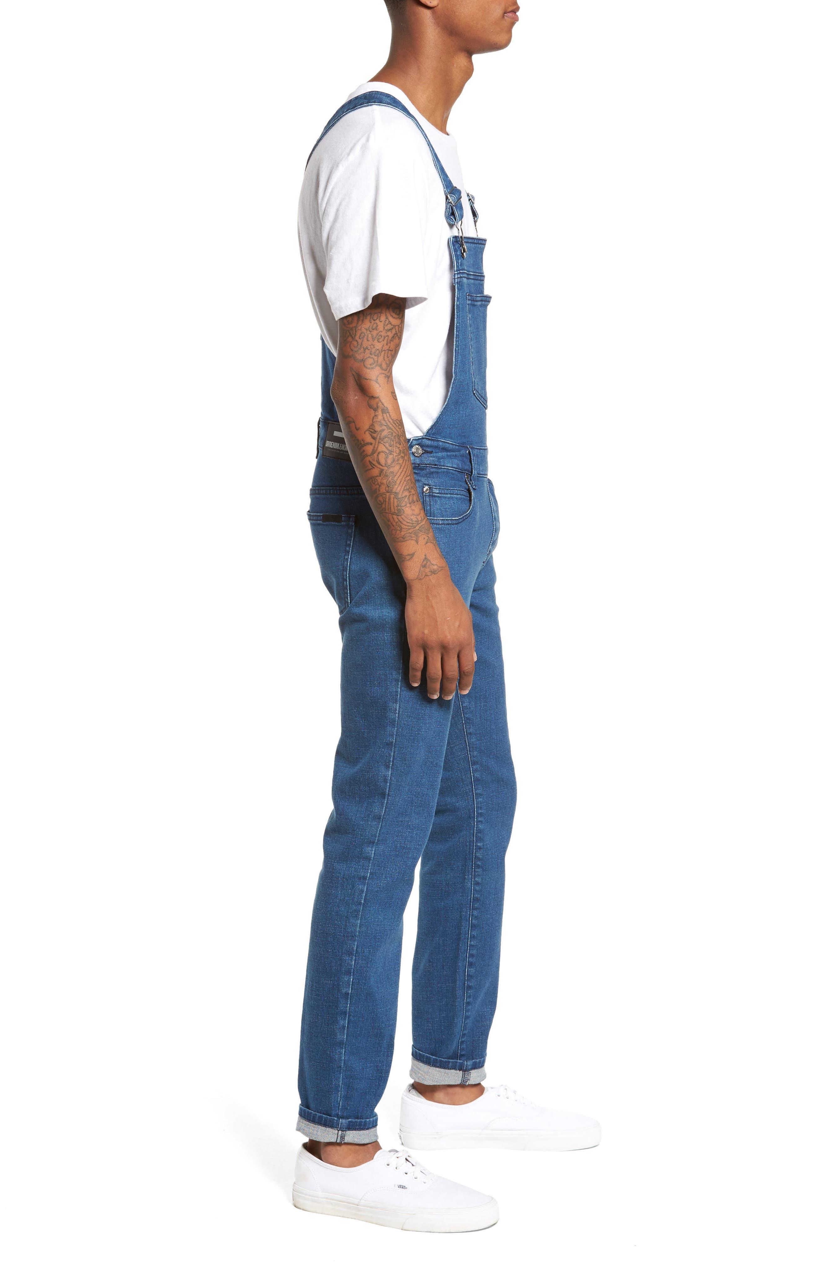 Alternate Image 3  - Dr. Denim Supply Co. Ira Skinny Fit Overalls (90s Mid Stone)