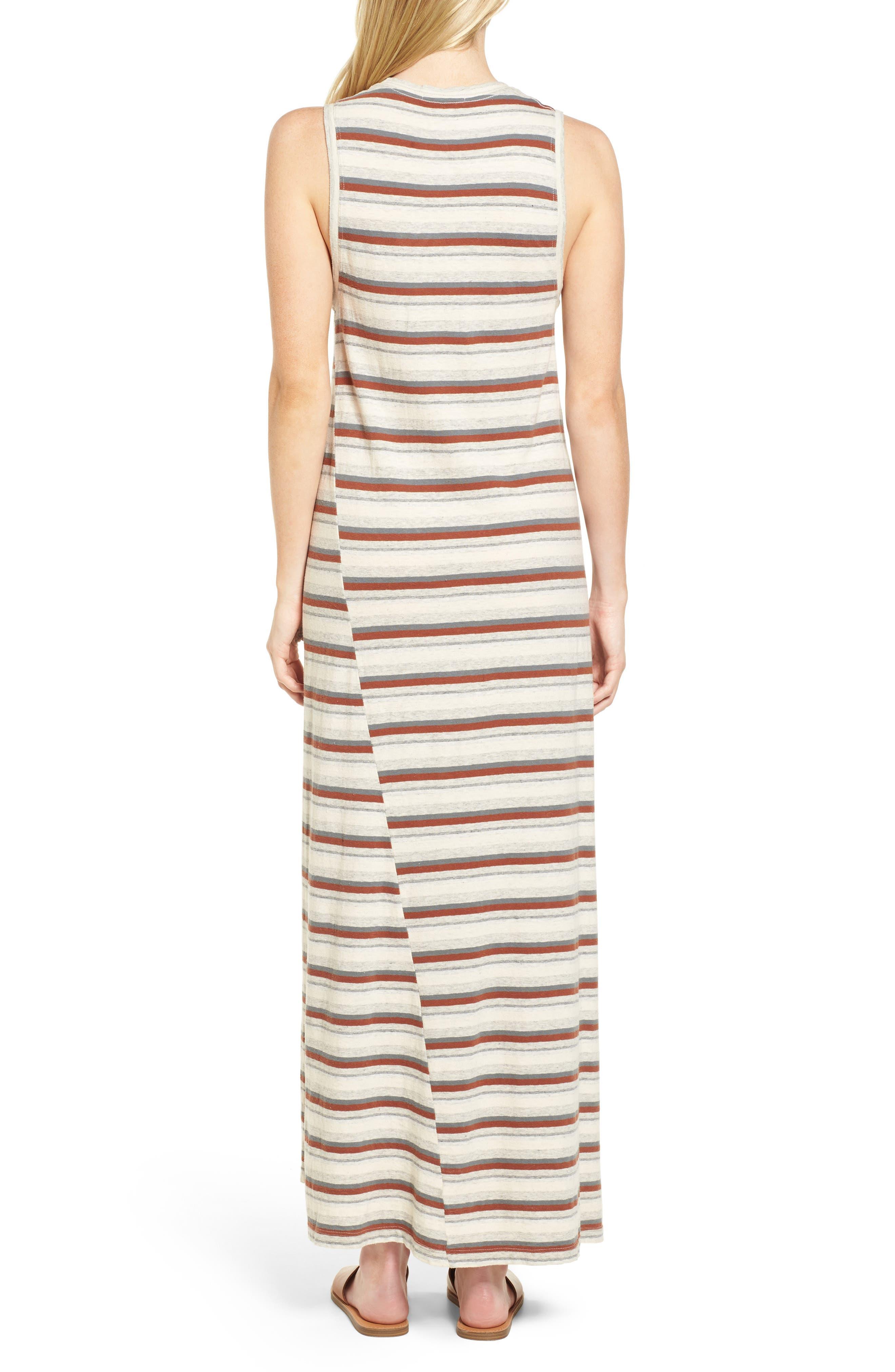 Sleeveless Stripe Dress,                             Alternate thumbnail 2, color,                             Cartridge Stripe