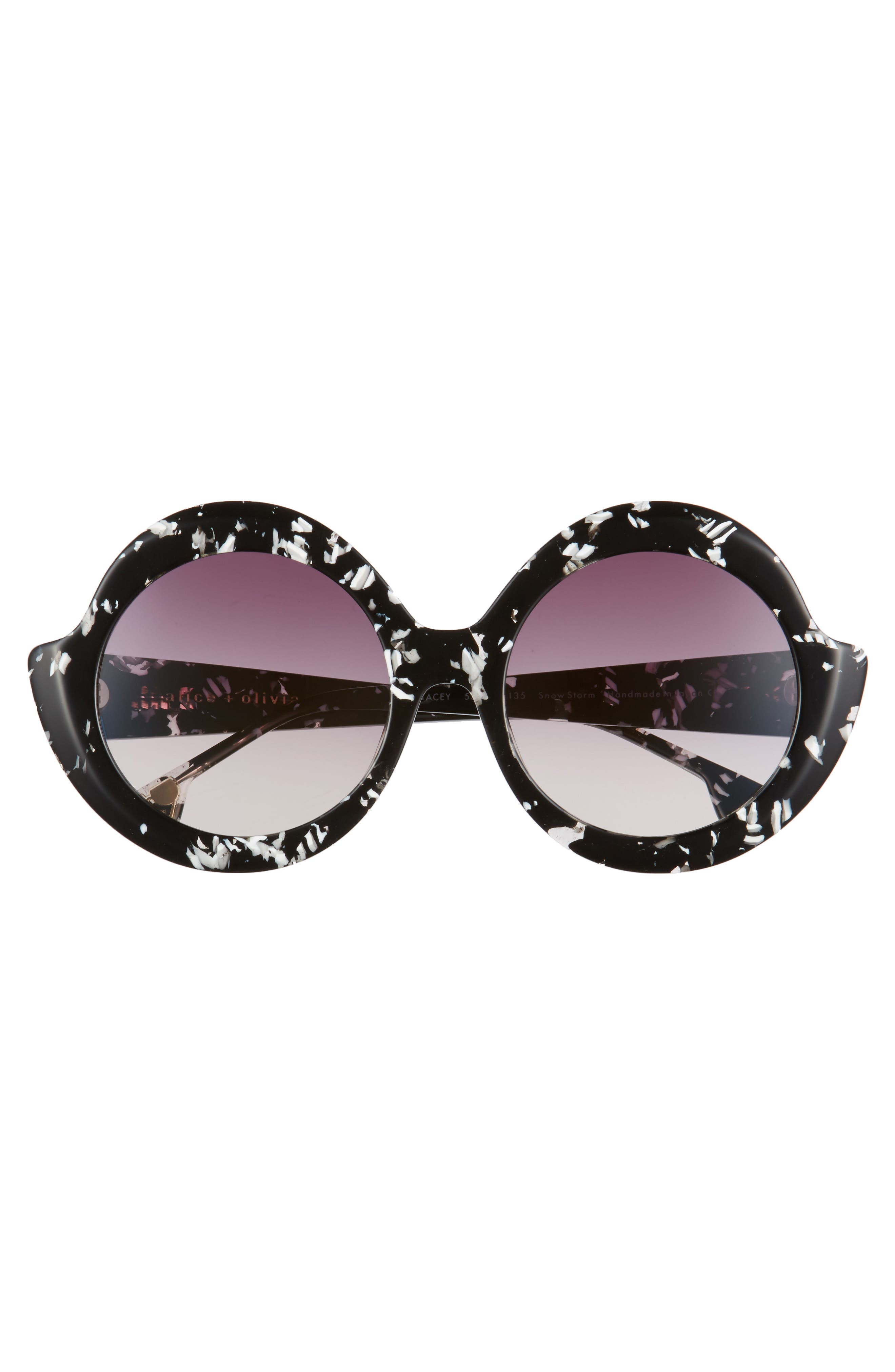 Alternate Image 3  - Alice + Olivia Stacey 56mm Round Gradient Lens Sunglasses