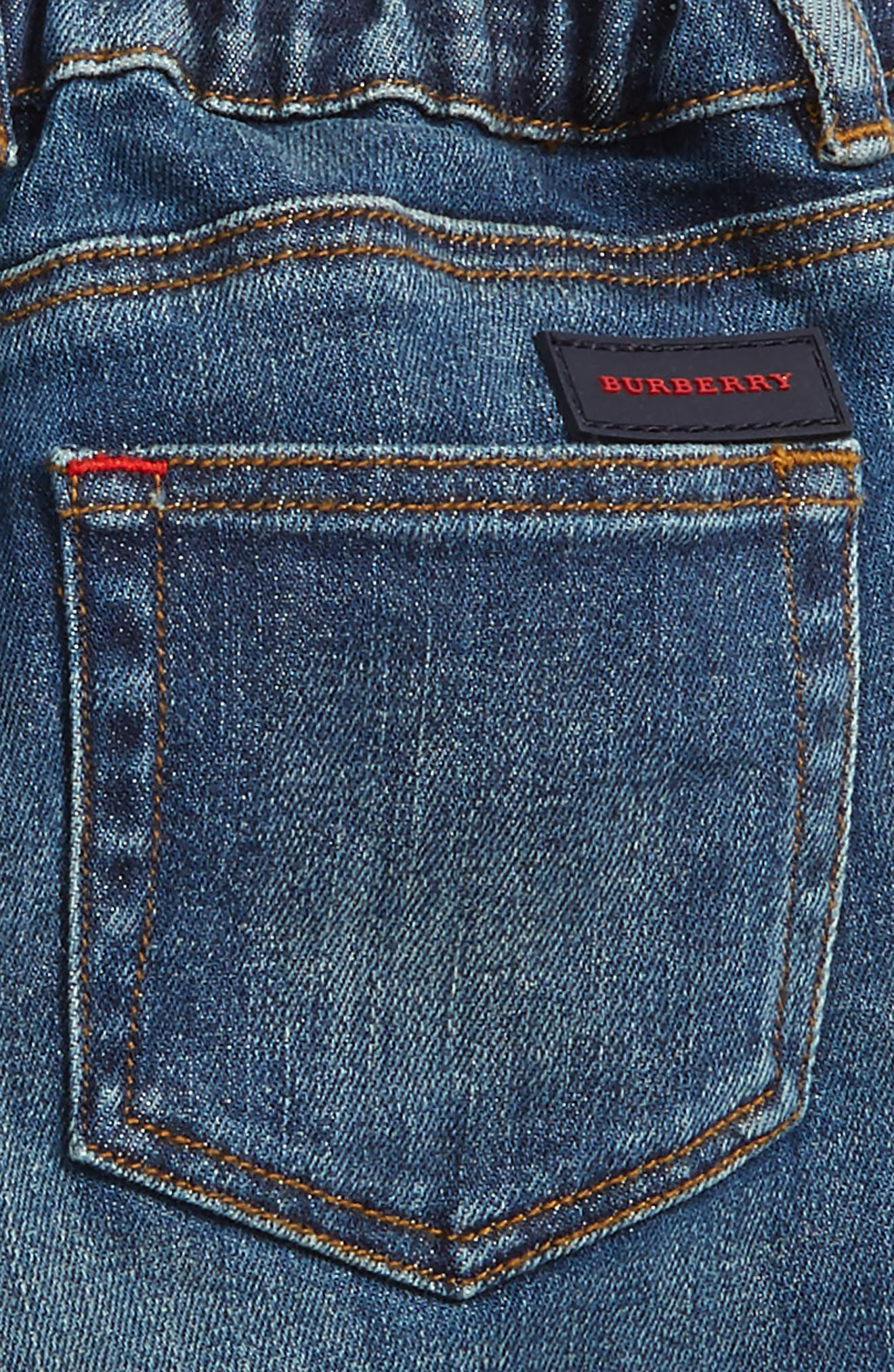 Check Cuff Relaxed Jeans,                             Alternate thumbnail 3, color,                             Indigo