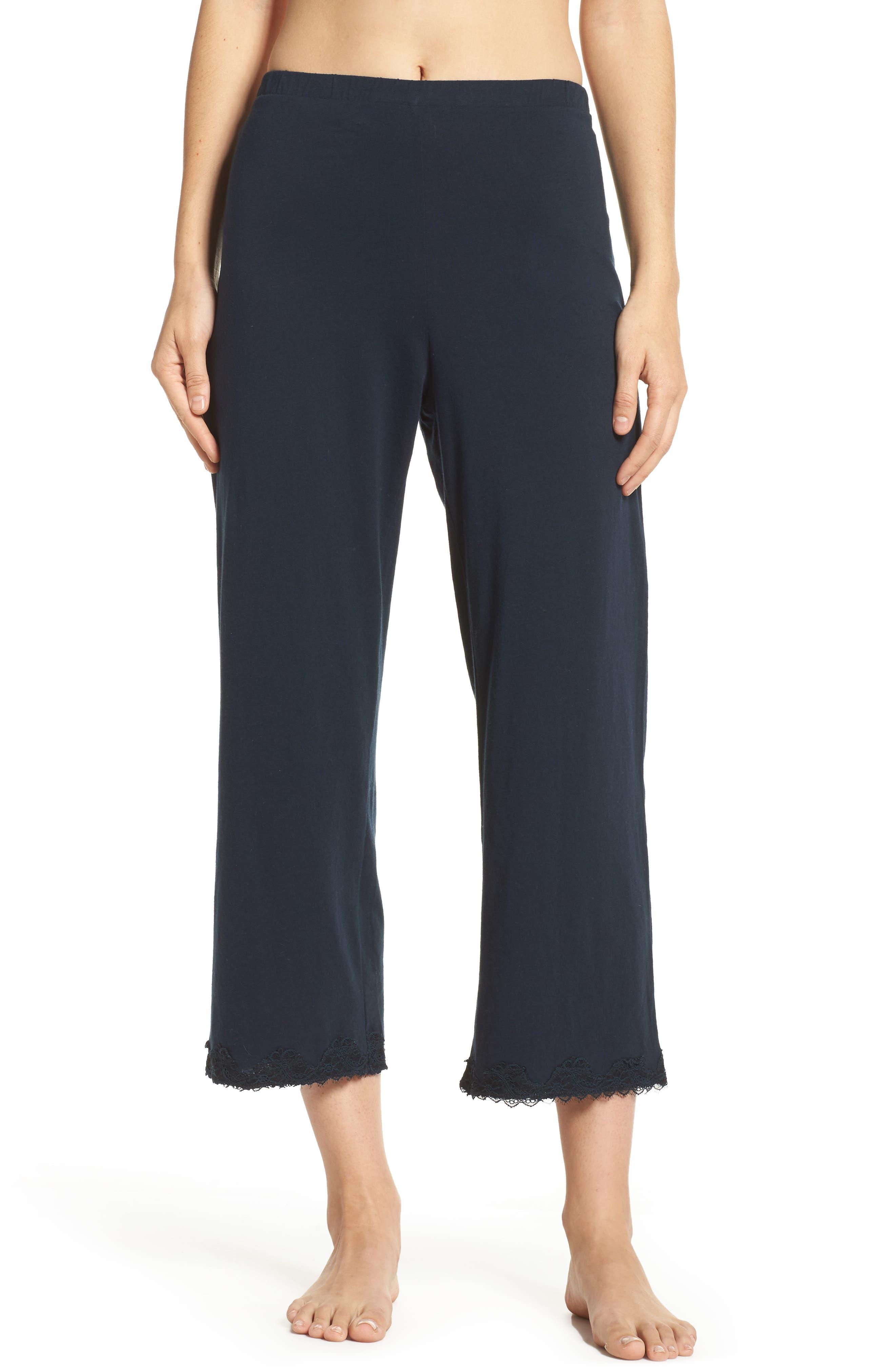 Alternate Image 1 Selected - skin Que Crop Organic Cotton Lounge Pants