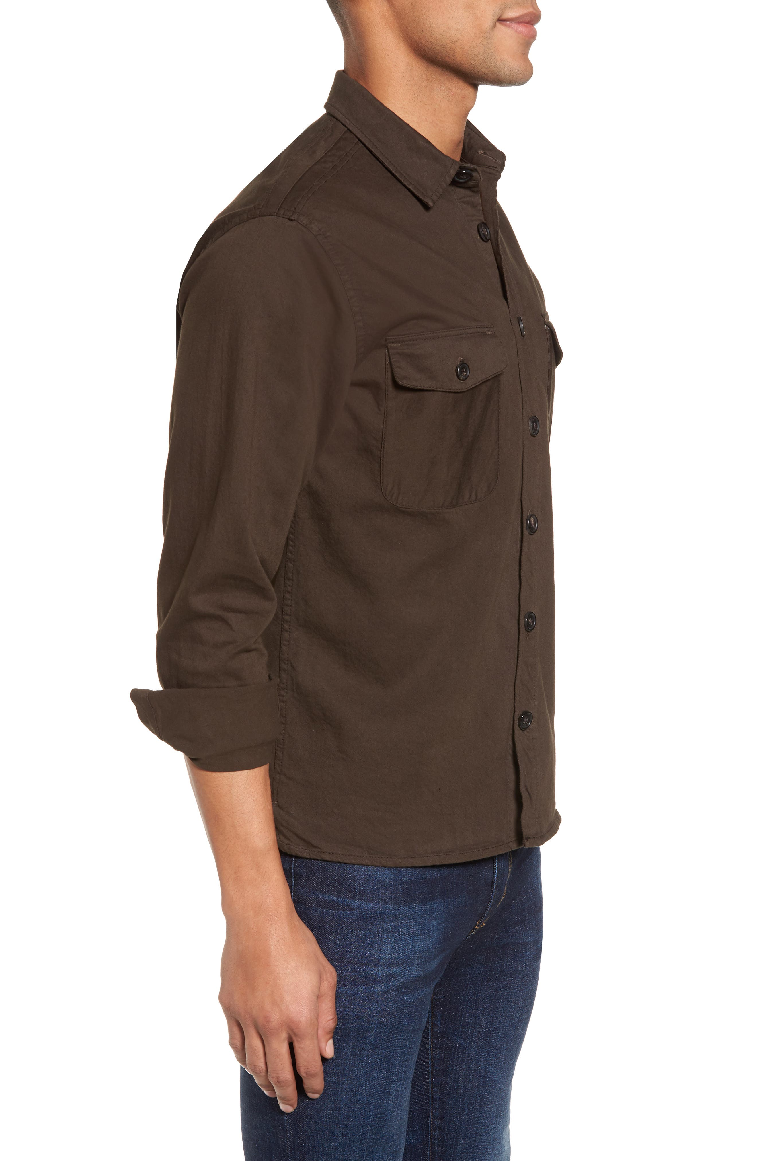 Alternate Image 3  - Billy Reid Selvedge Denim Sport Shirt