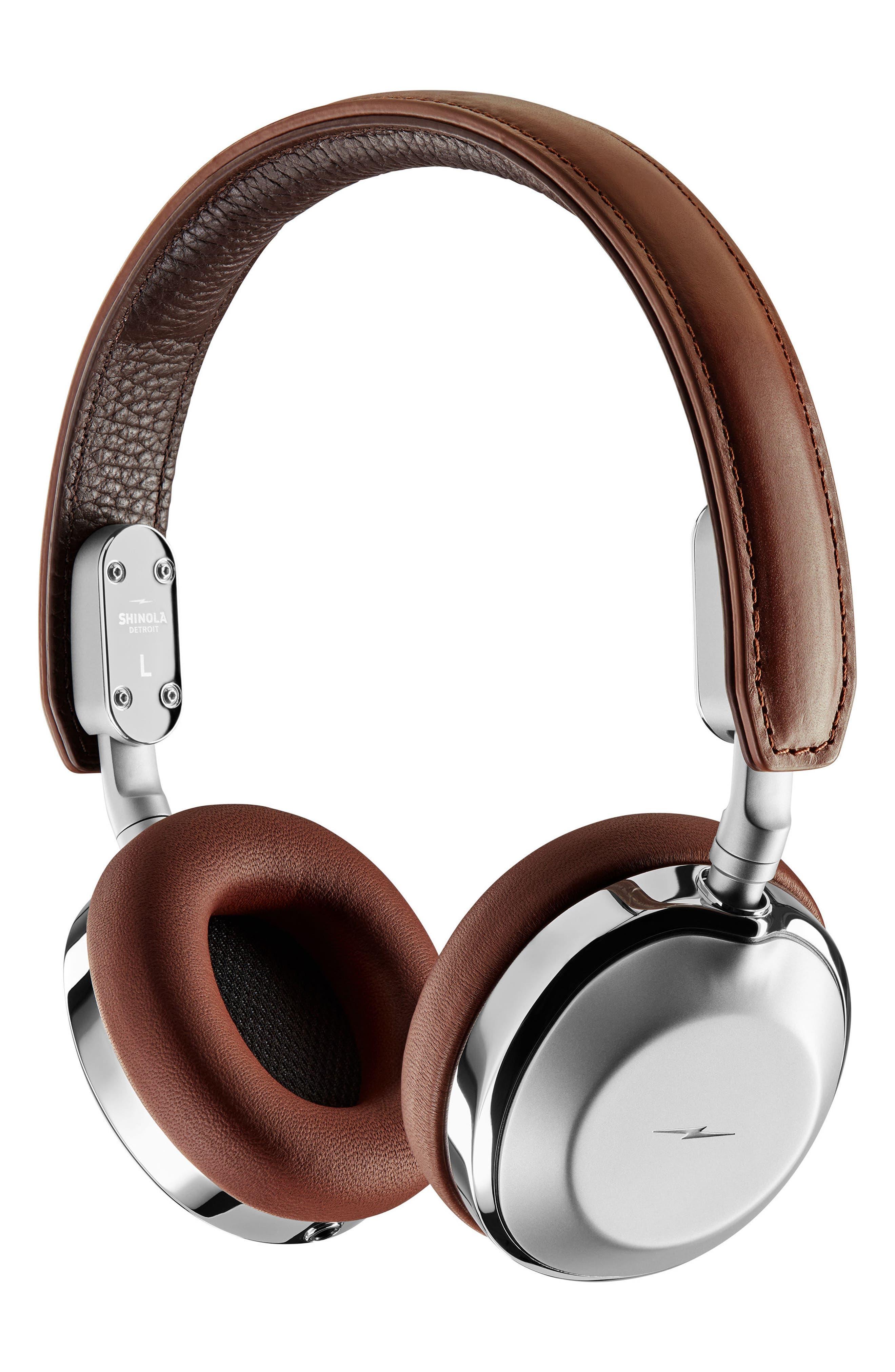 Canfield On-Ear Headphones,                         Main,                         color, Cognac