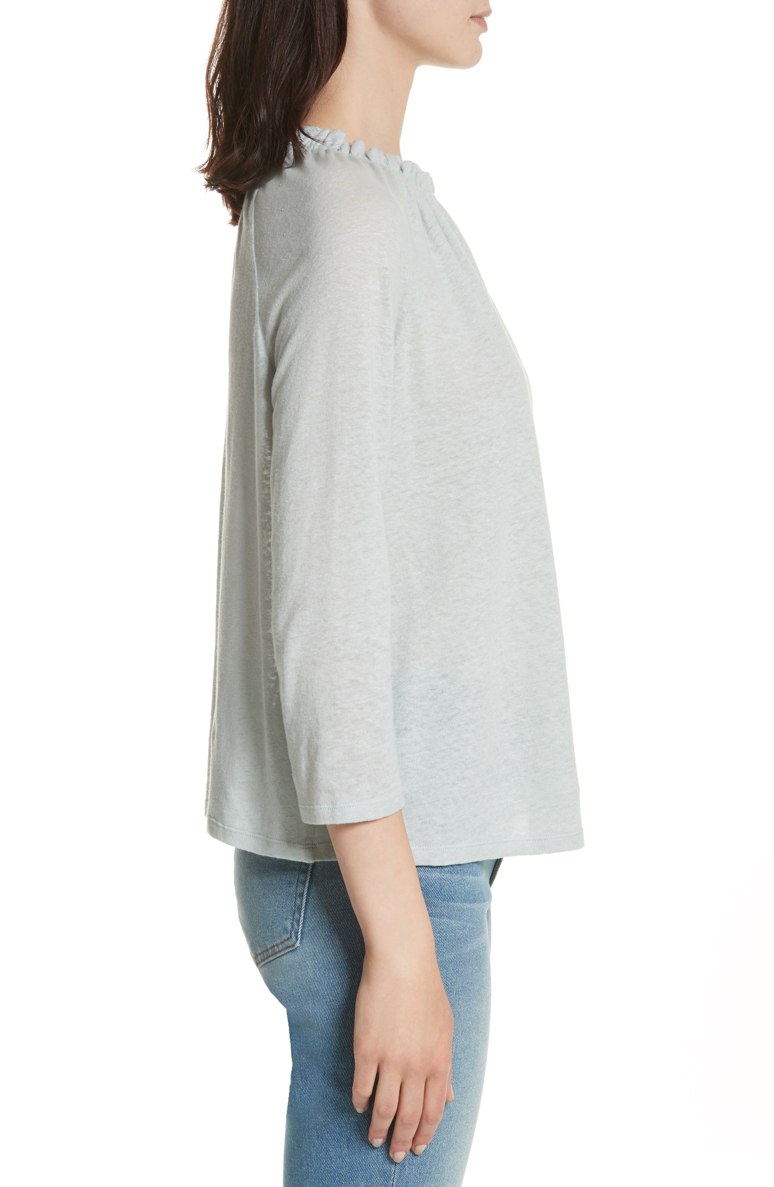 Texture Jersey Off the Shoulder Top,                             Alternate thumbnail 3, color,                             Glace