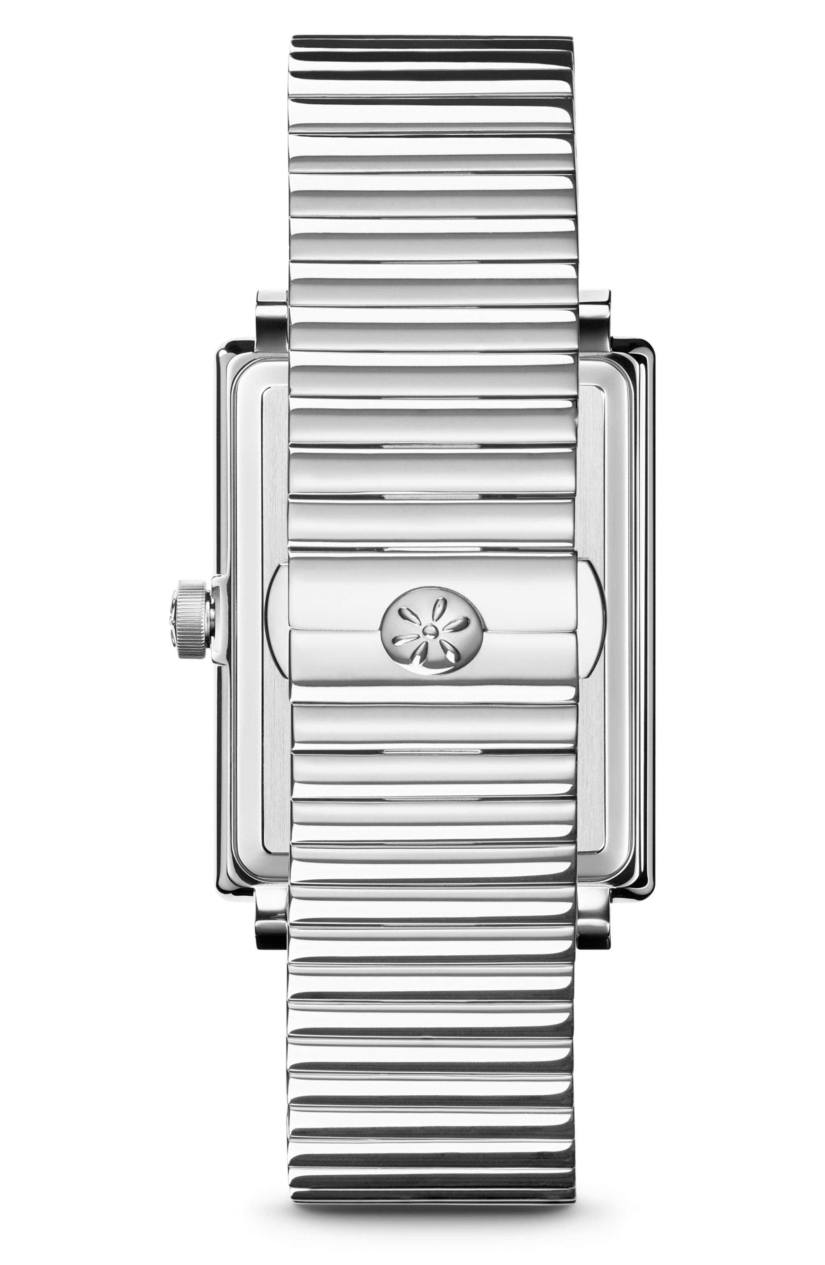 The Shirley Fromer Bracelet Watch, 32mm x 25mm,                             Alternate thumbnail 3, color,                             Silver/ Blue/ Silver