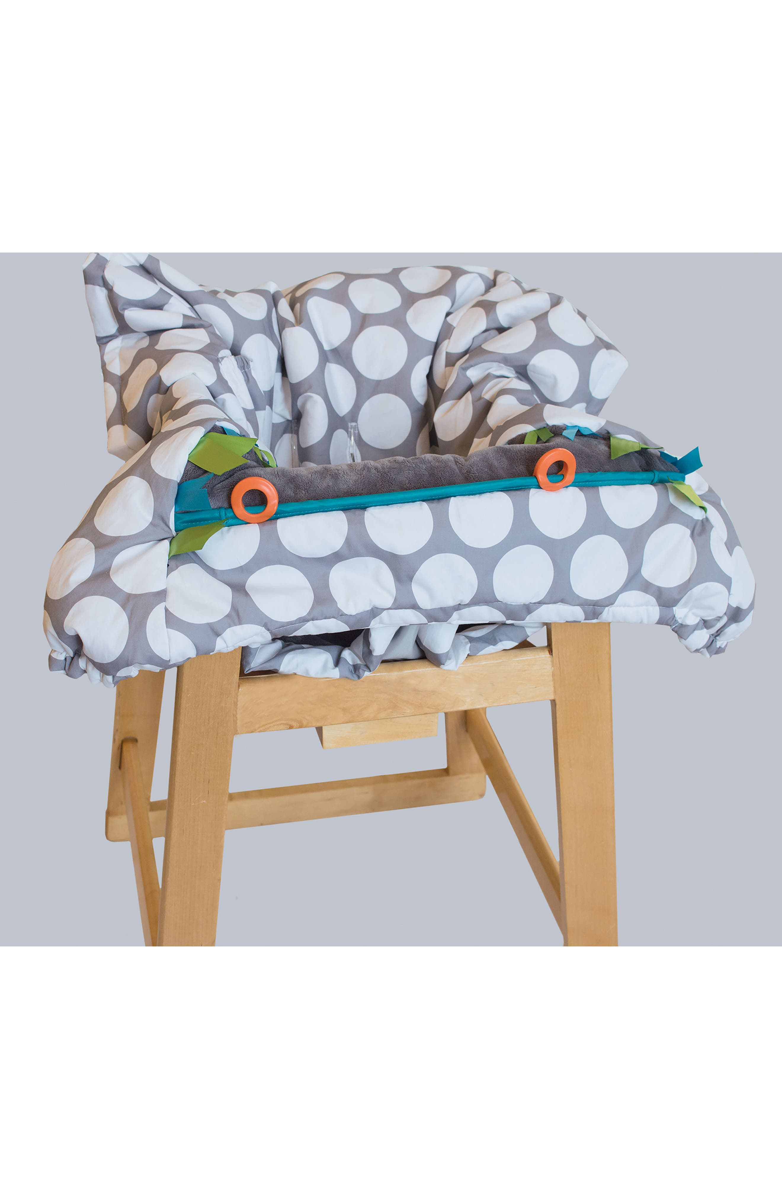 Luxe Shopping Cart Cover,                             Alternate thumbnail 3, color,                             Jumbo Dots Gray
