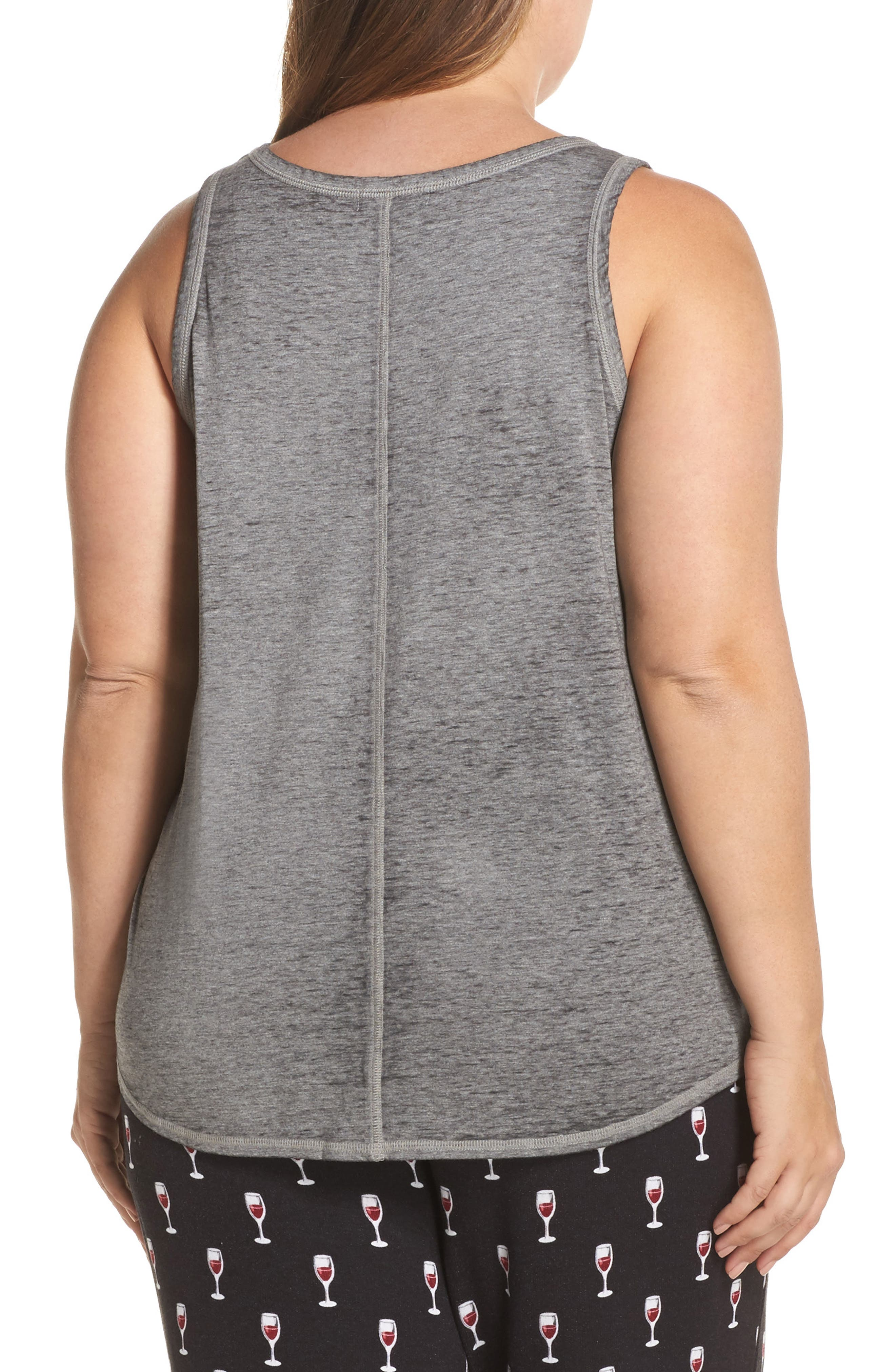 All You Need Is Wine Tank,                             Alternate thumbnail 2, color,                             Heather Grey