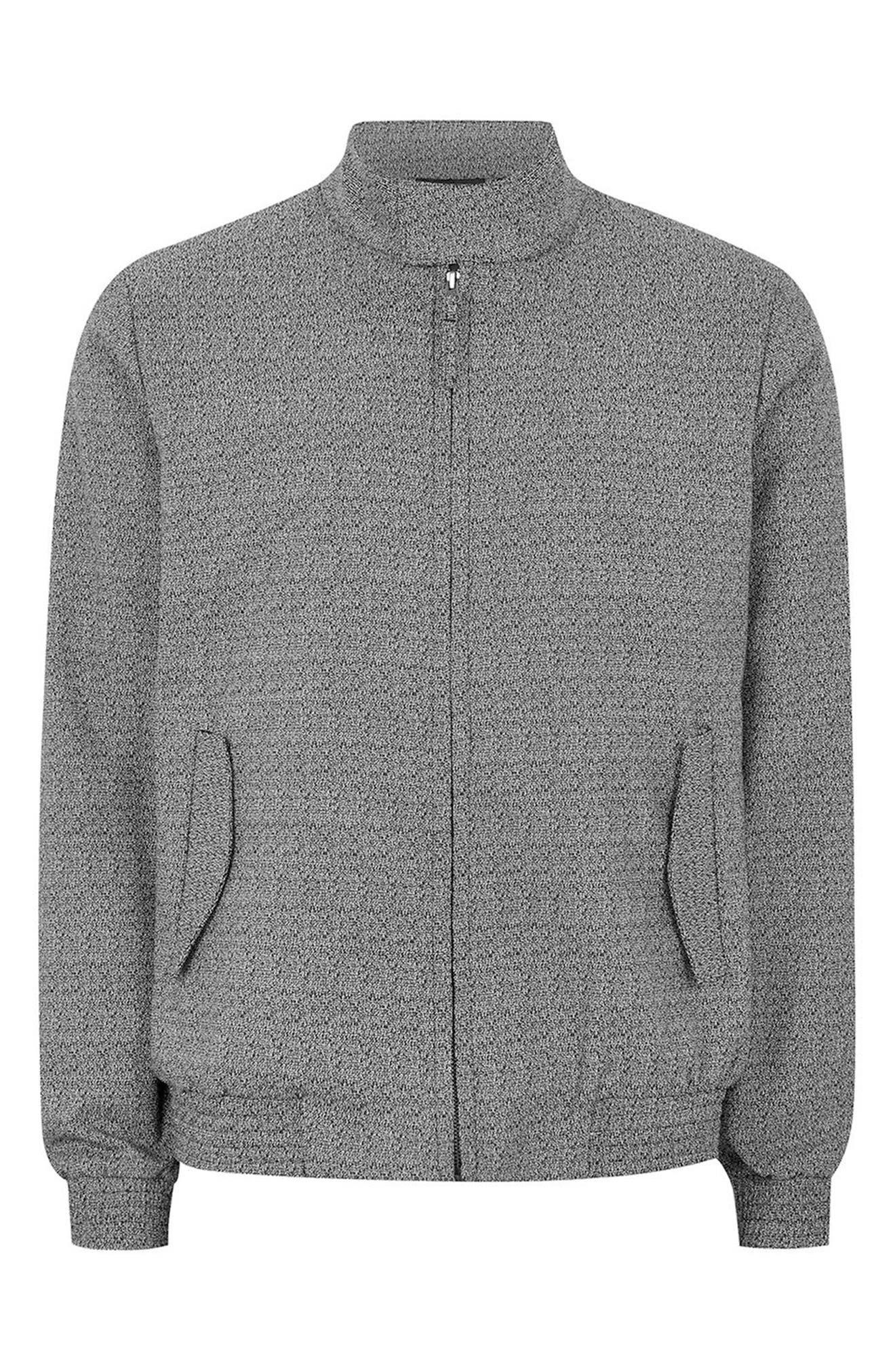 Alternate Image 4  - Topman Textured Harrington Jacket