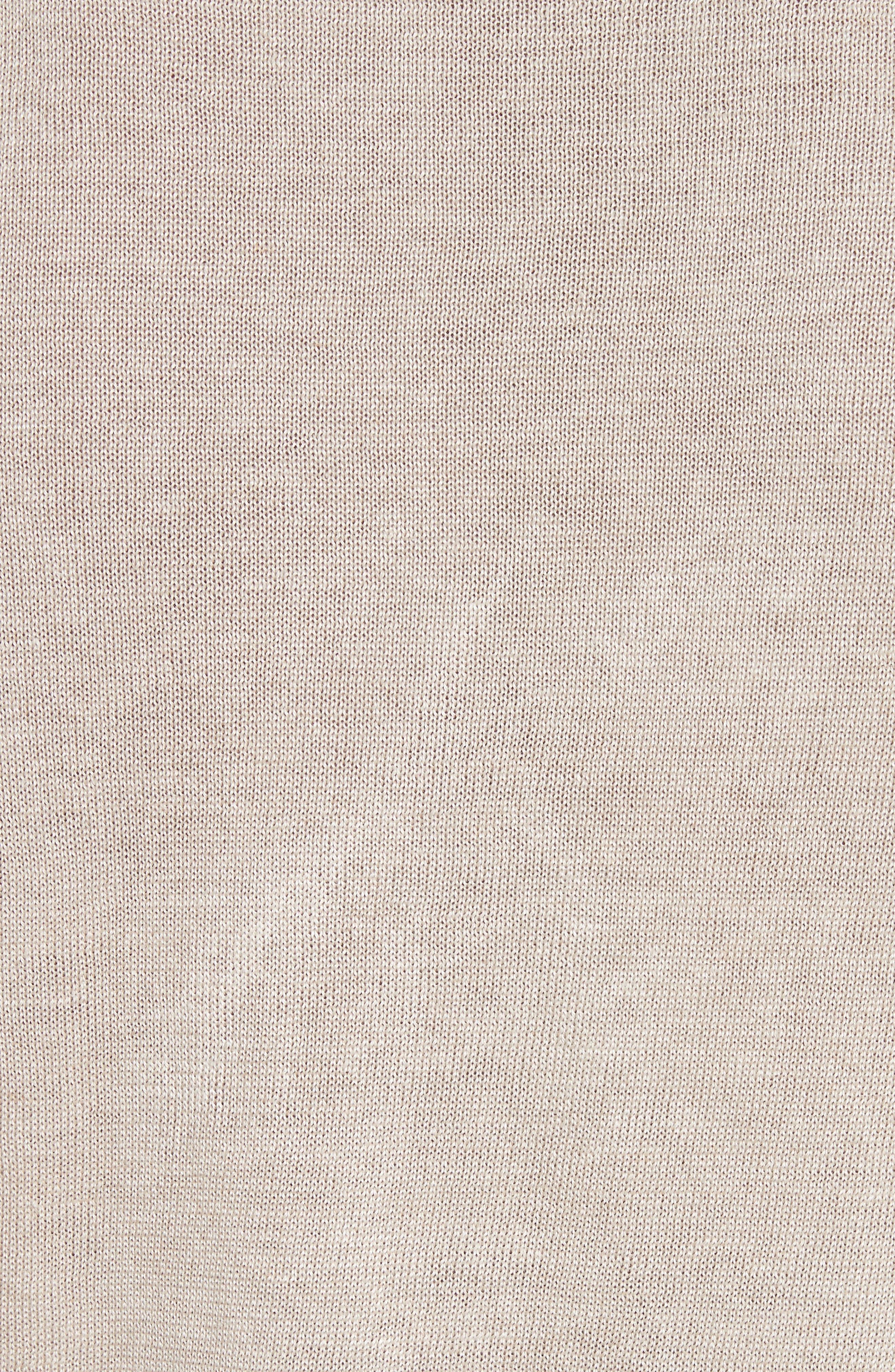 Exford Linen Crewneck Sweater,                             Alternate thumbnail 5, color,                             Light Sand