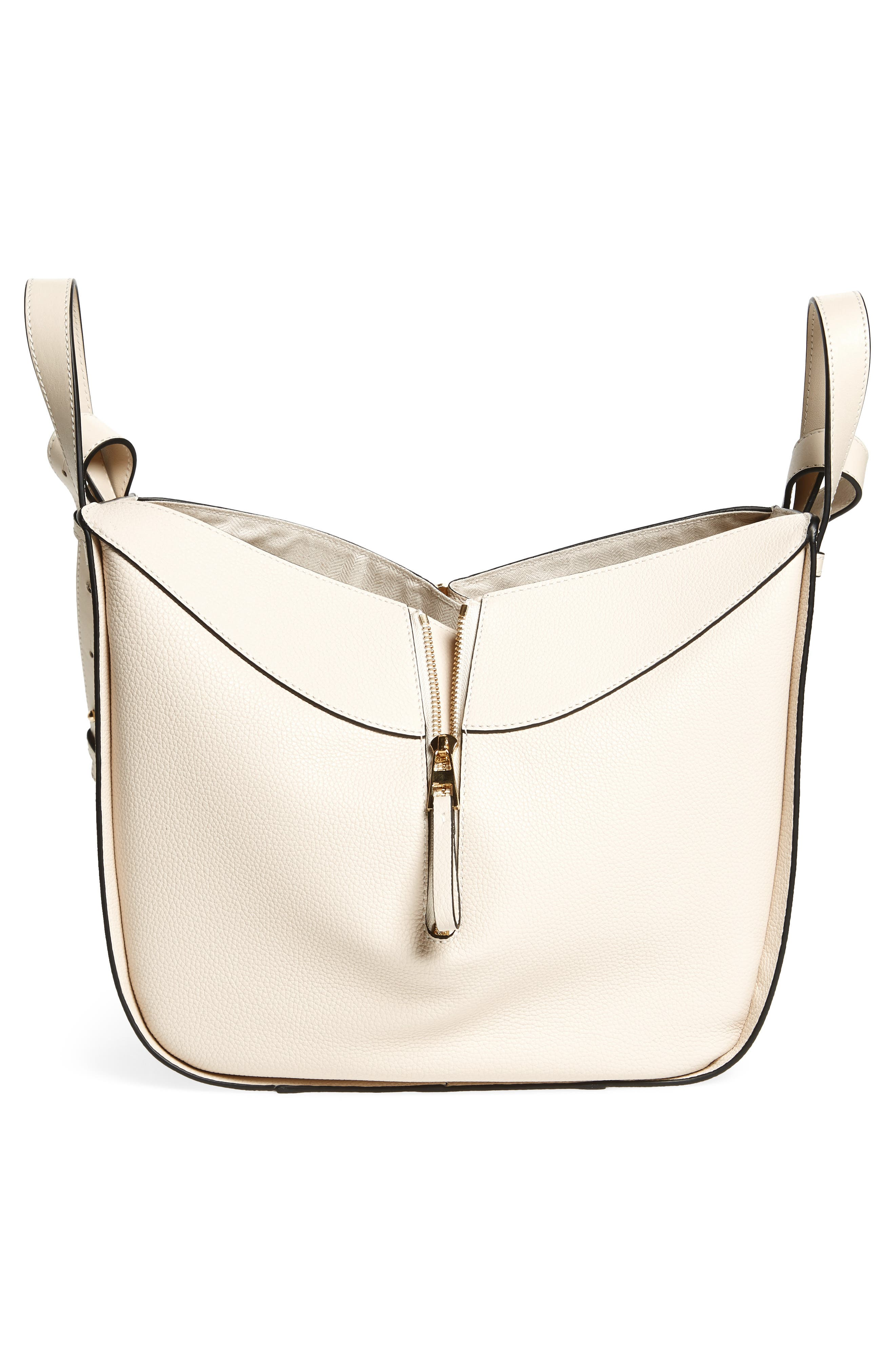 Small Hammock Tricolor Pebbled Leather Hobo,                             Alternate thumbnail 7, color,                             Ivory