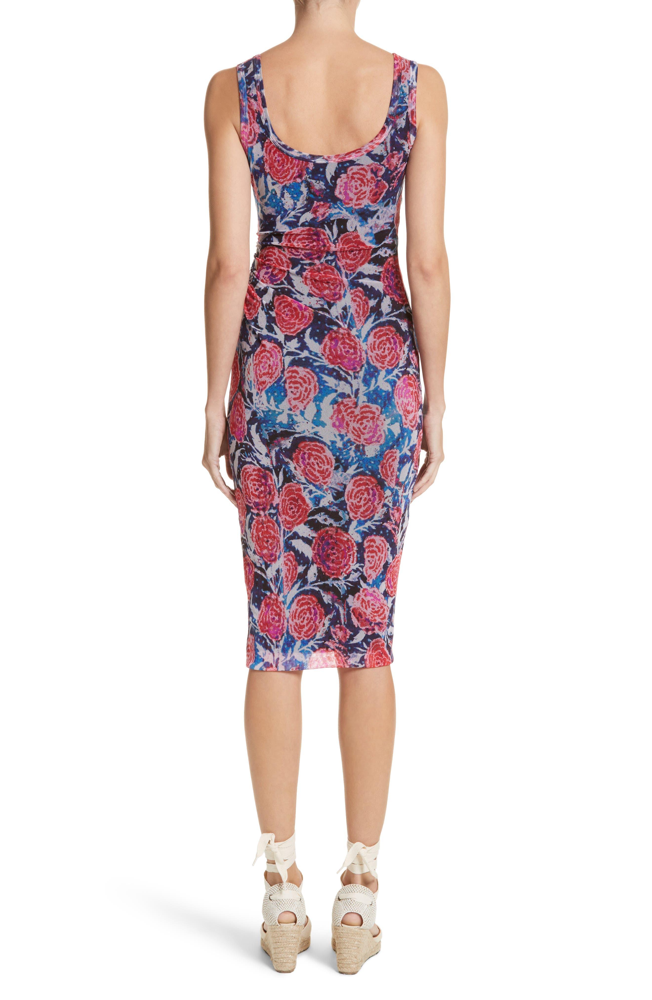 Print Tulle Tank Dress,                             Alternate thumbnail 3, color,                             Copiativc